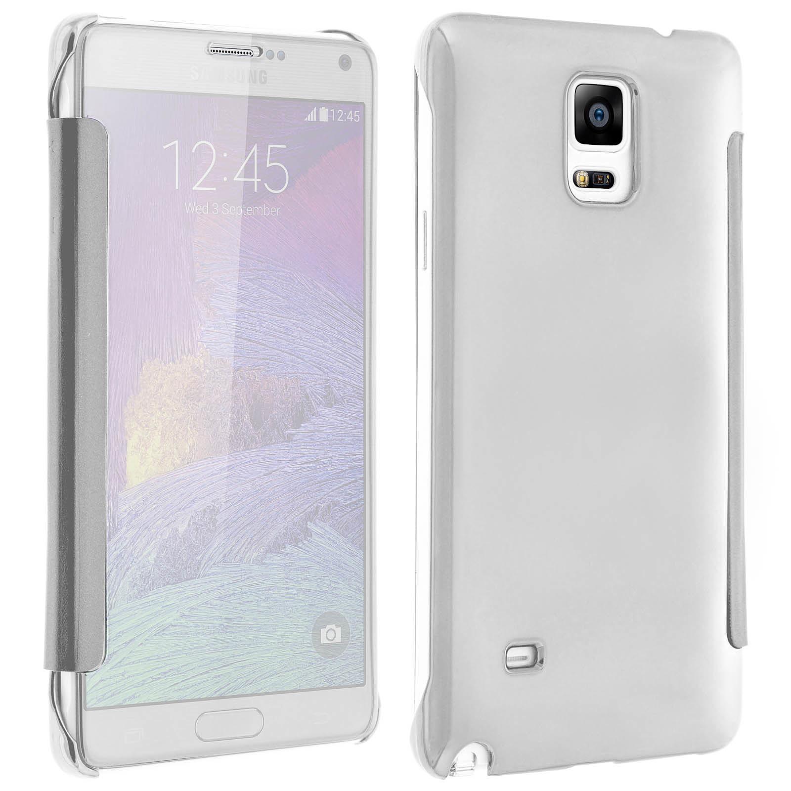 Avizar Etui folio Argent pour Samsung Galaxy Note 4