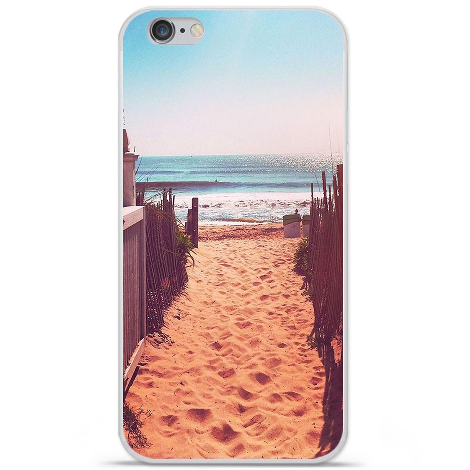 1001 Coques Coque silicone gel Apple IPhone 7 Plus motif Chemin de plage