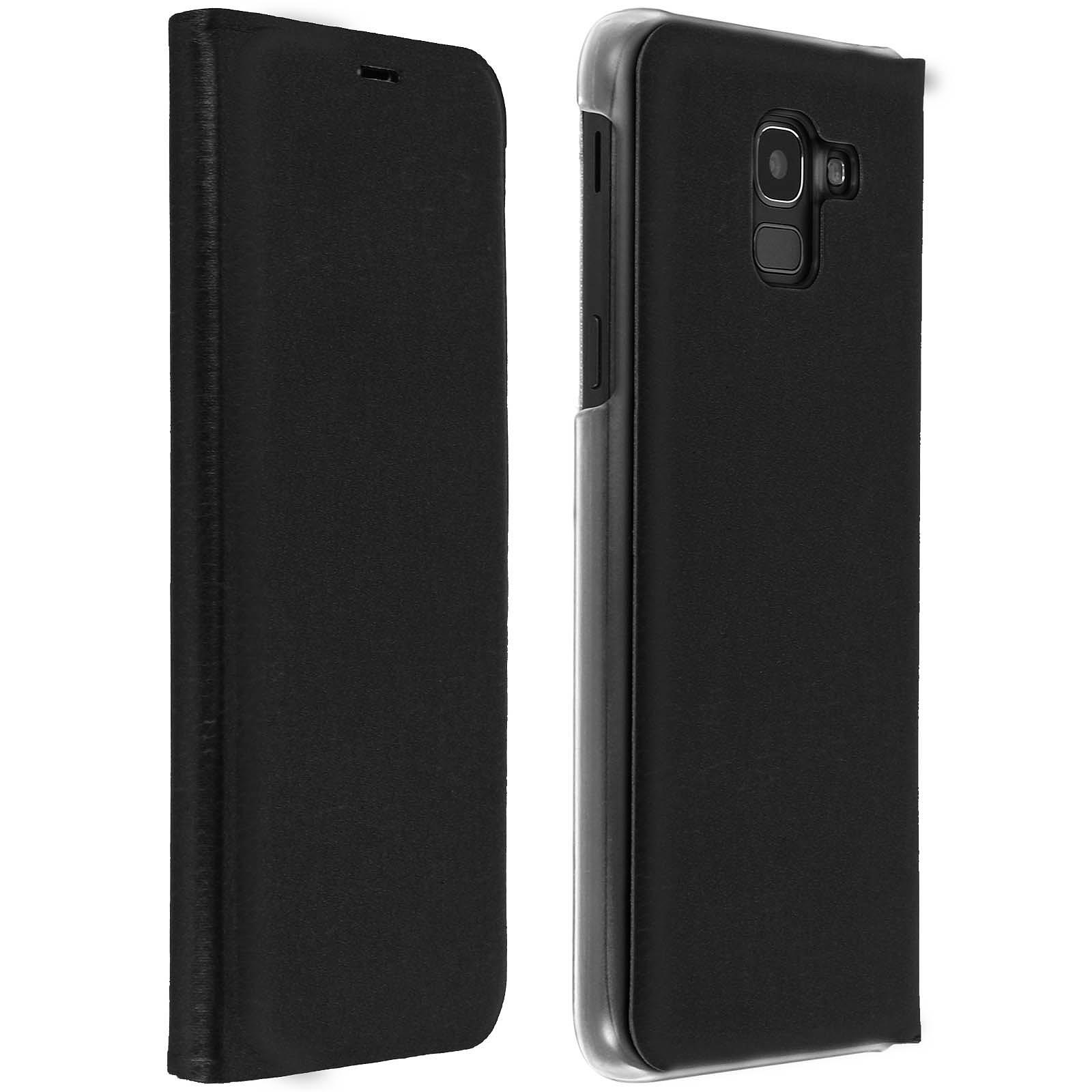 Avizar Etui folio Noir pour Samsung Galaxy J6