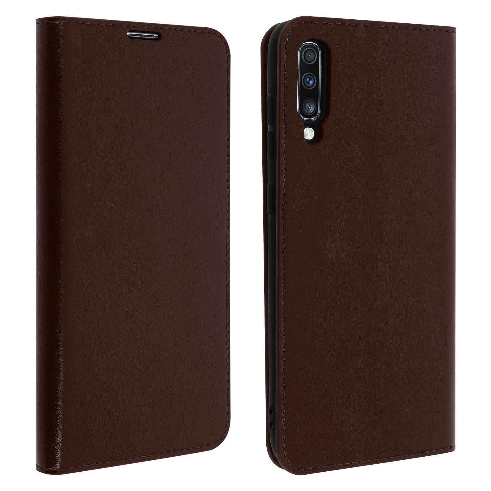 Avizar Etui folio Marron pour Samsung Galaxy A70