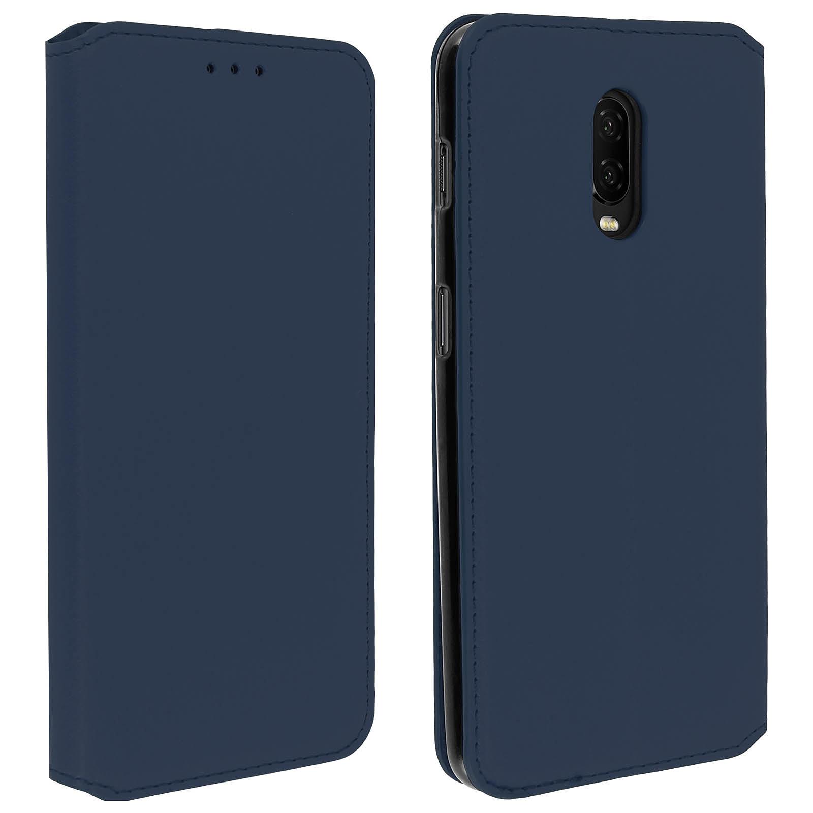 Avizar Etui folio Bleu pour OnePlus 6T, OnePlus 7