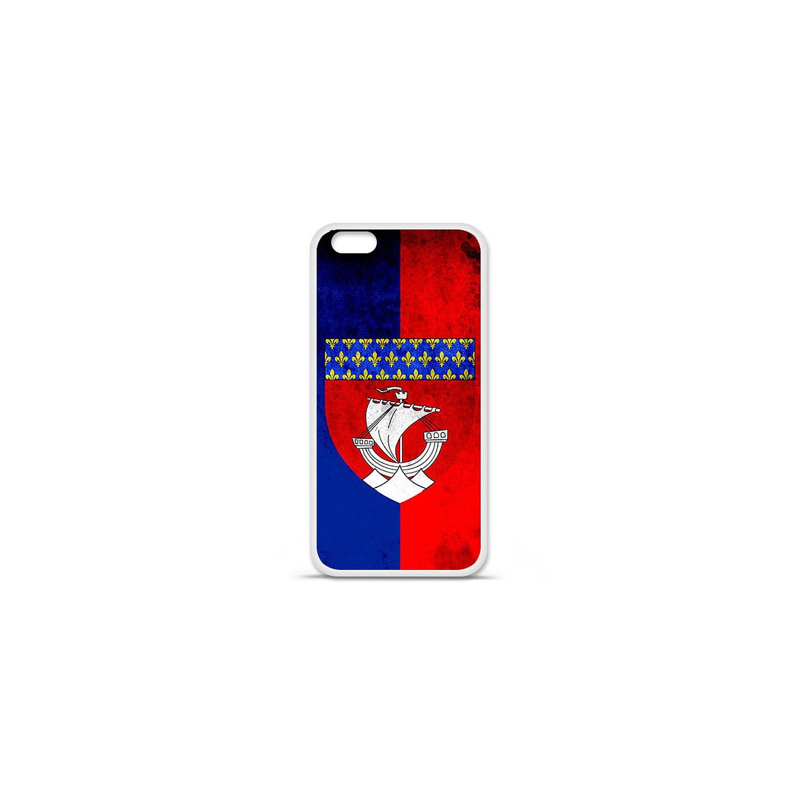 1001 Coques Coque silicone gel Apple IPhone 7 Plus motif Drapeau Paris
