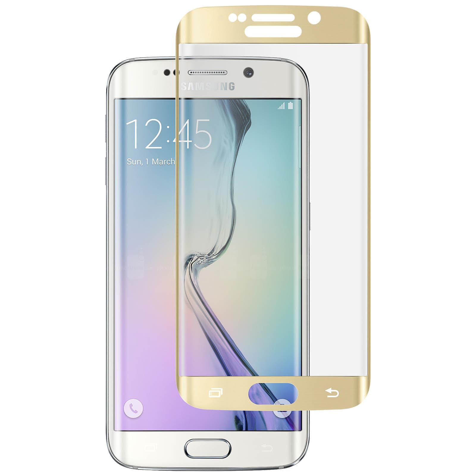 Avizar Film verre trempé Dorée pour Samsung Galaxy S6 Edge