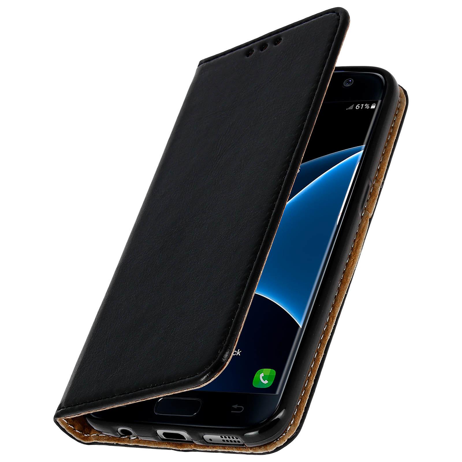 Avizar Etui folio Noir pour Samsung Galaxy S7 Edge
