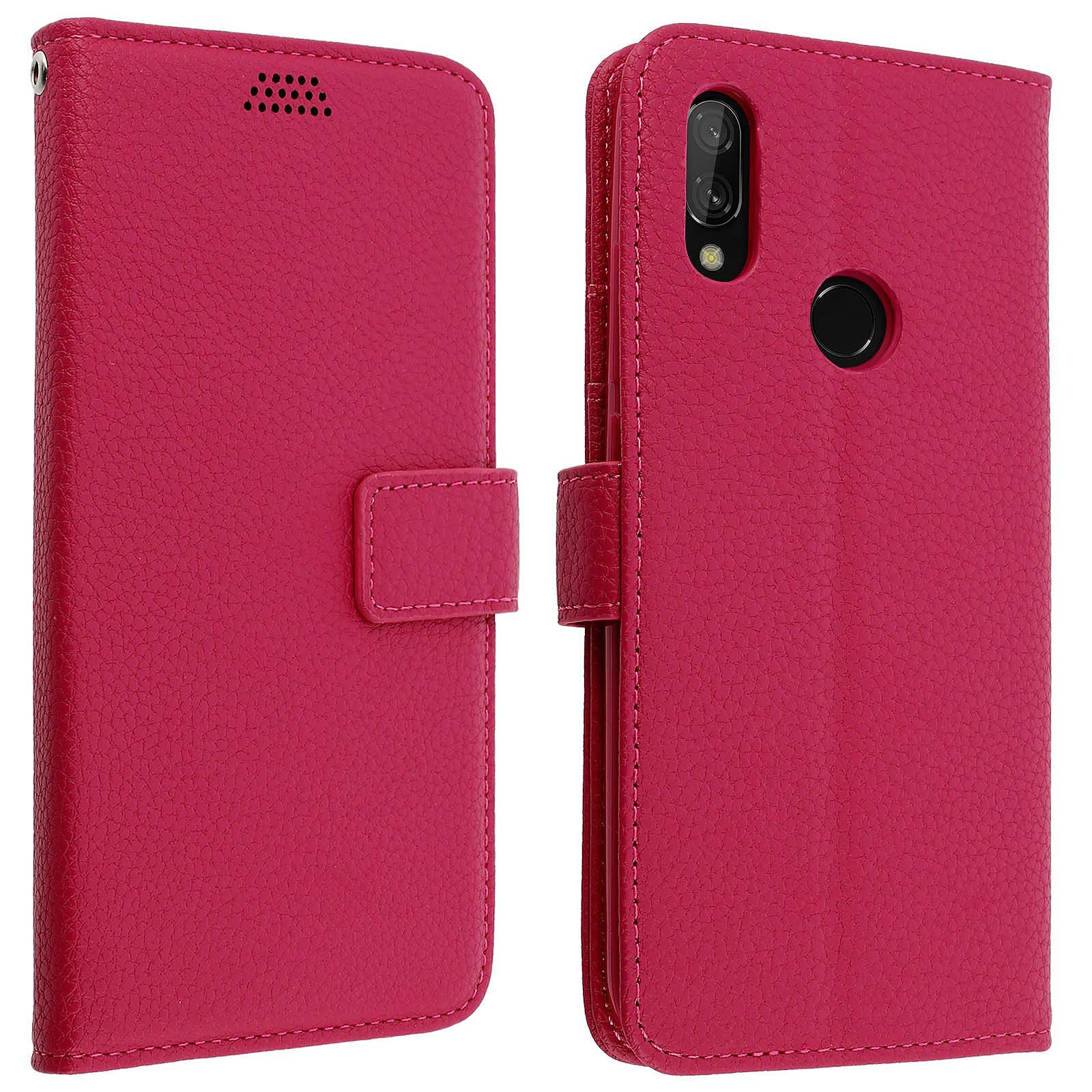 Avizar Etui folio Rose pour Xiaomi Redmi 7