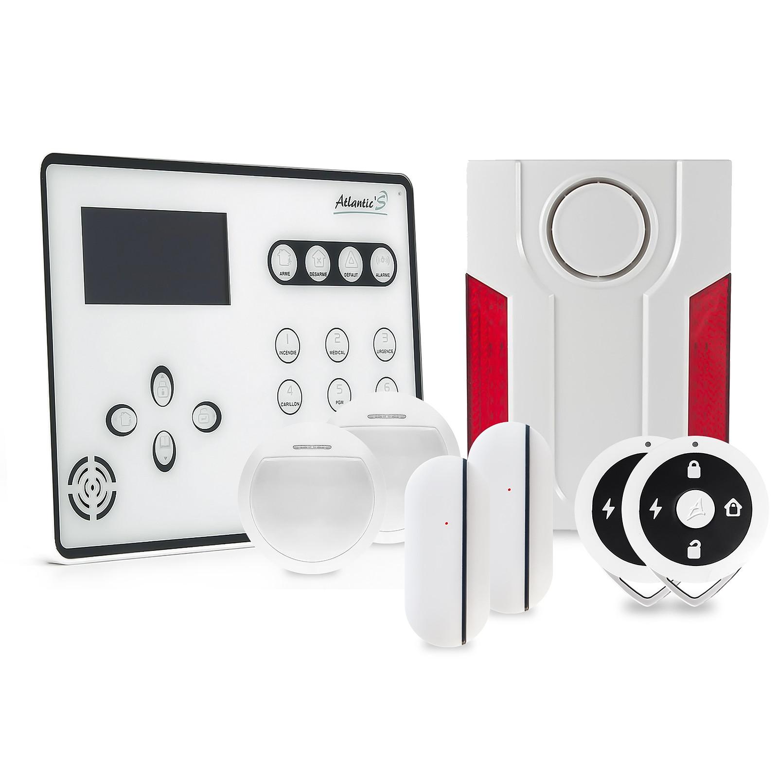 Atlantic'S ATEOS - Alarme de maison sans fil GSM Kit 3
