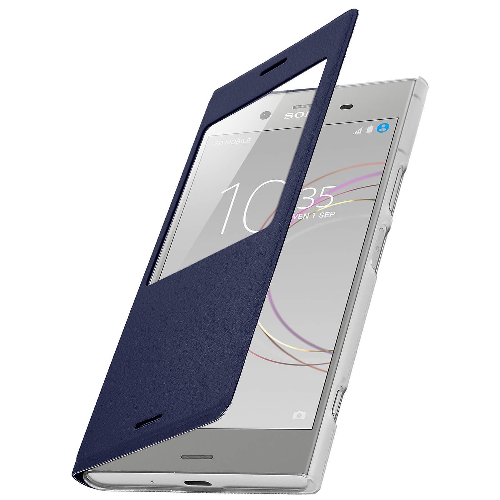Avizar Etui folio Bleu Nuit pour Sony Xperia XZ1