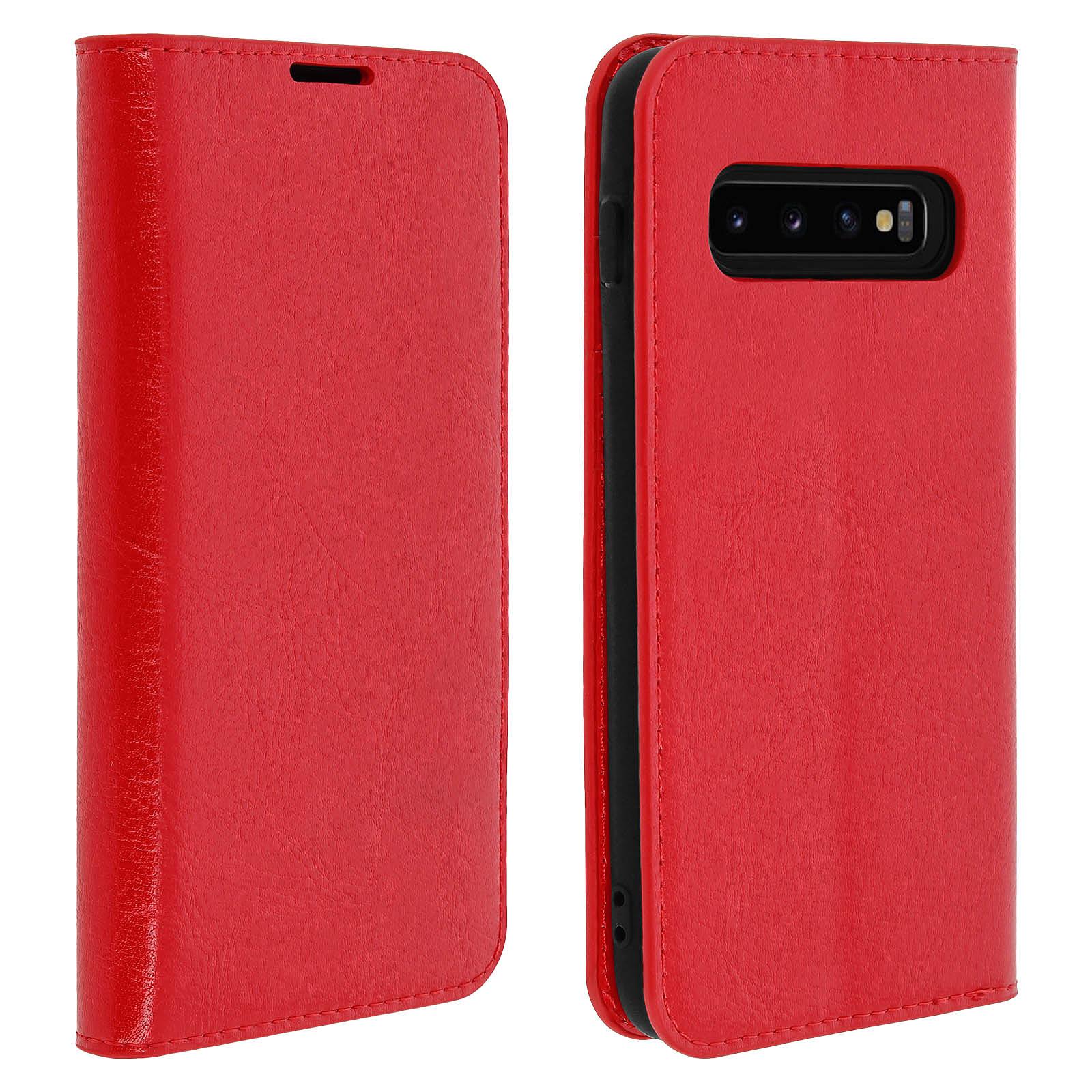 Avizar Etui folio Rouge pour Samsung Galaxy S10 Plus