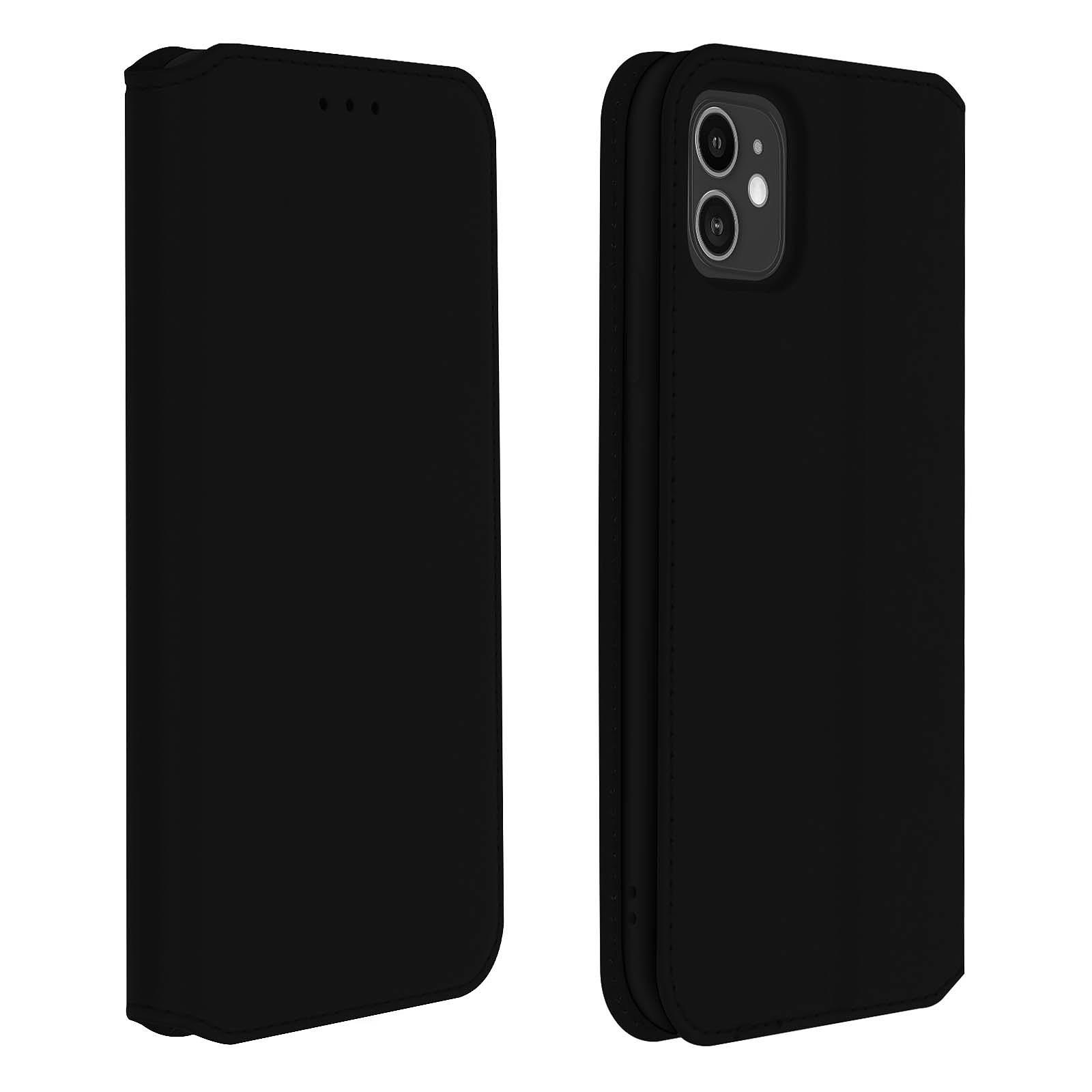Avizar Etui folio Noir Éco-cuir pour Apple iPhone 11