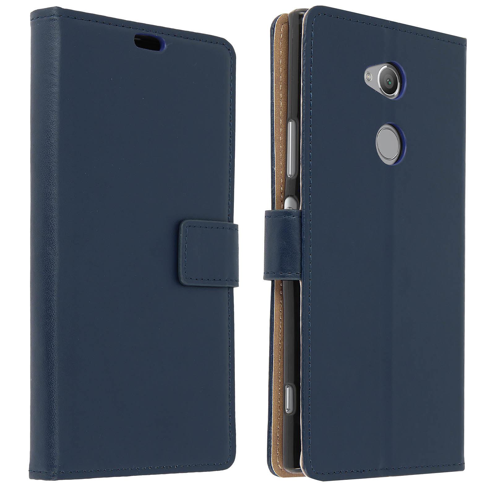 Avizar Etui folio Bleu Nuit pour Sony Xperia XA2 Ultra