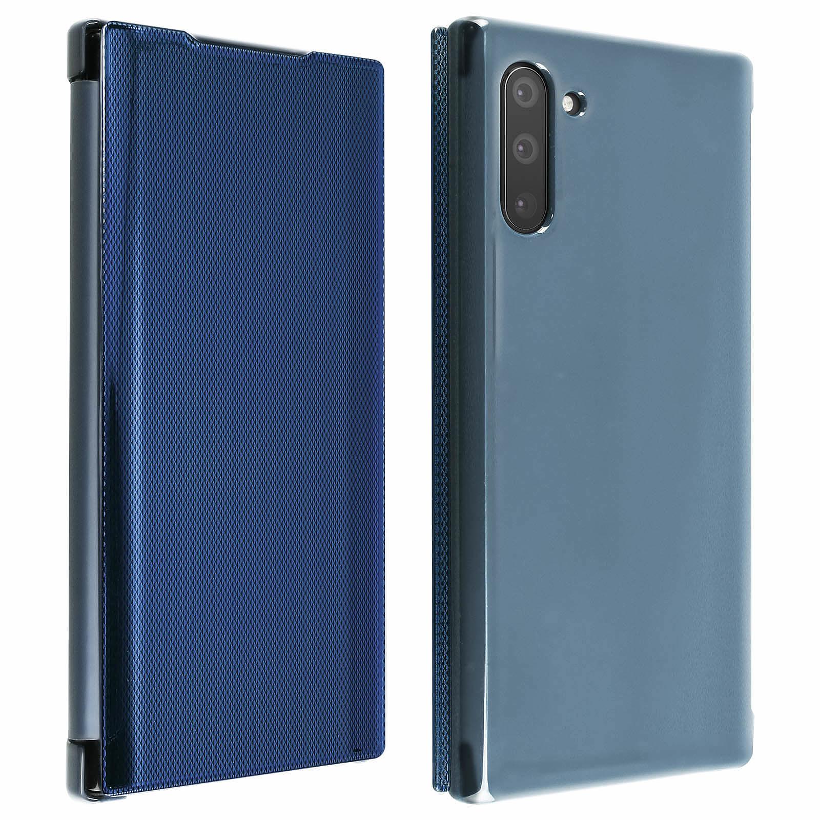Avizar Etui folio Bleu pour Samsung Galaxy Note 10