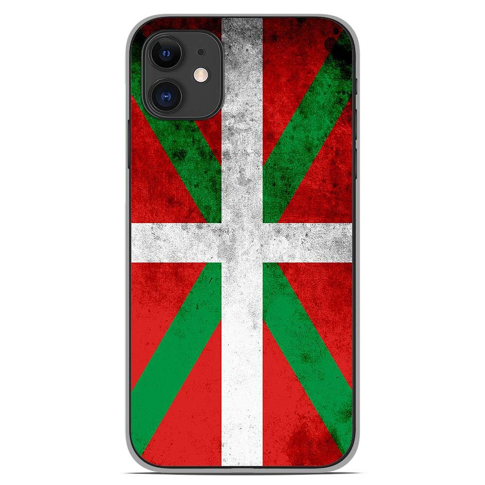 1001 Coques Coque silicone gel Apple iPhone 11 motif Drapeau Basque