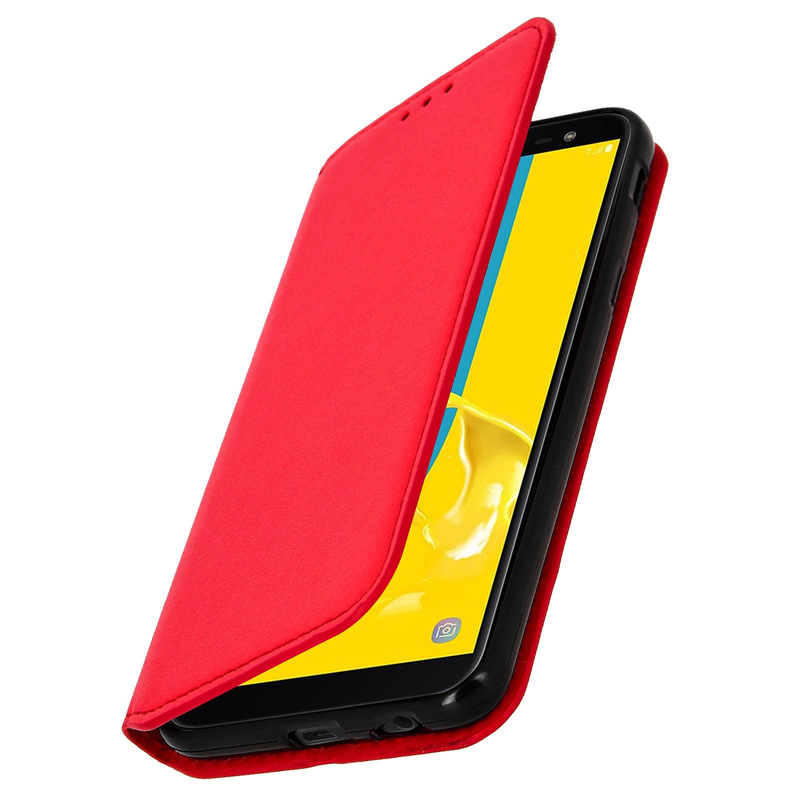 Avizar Etui folio Rouge pour Samsung Galaxy J6
