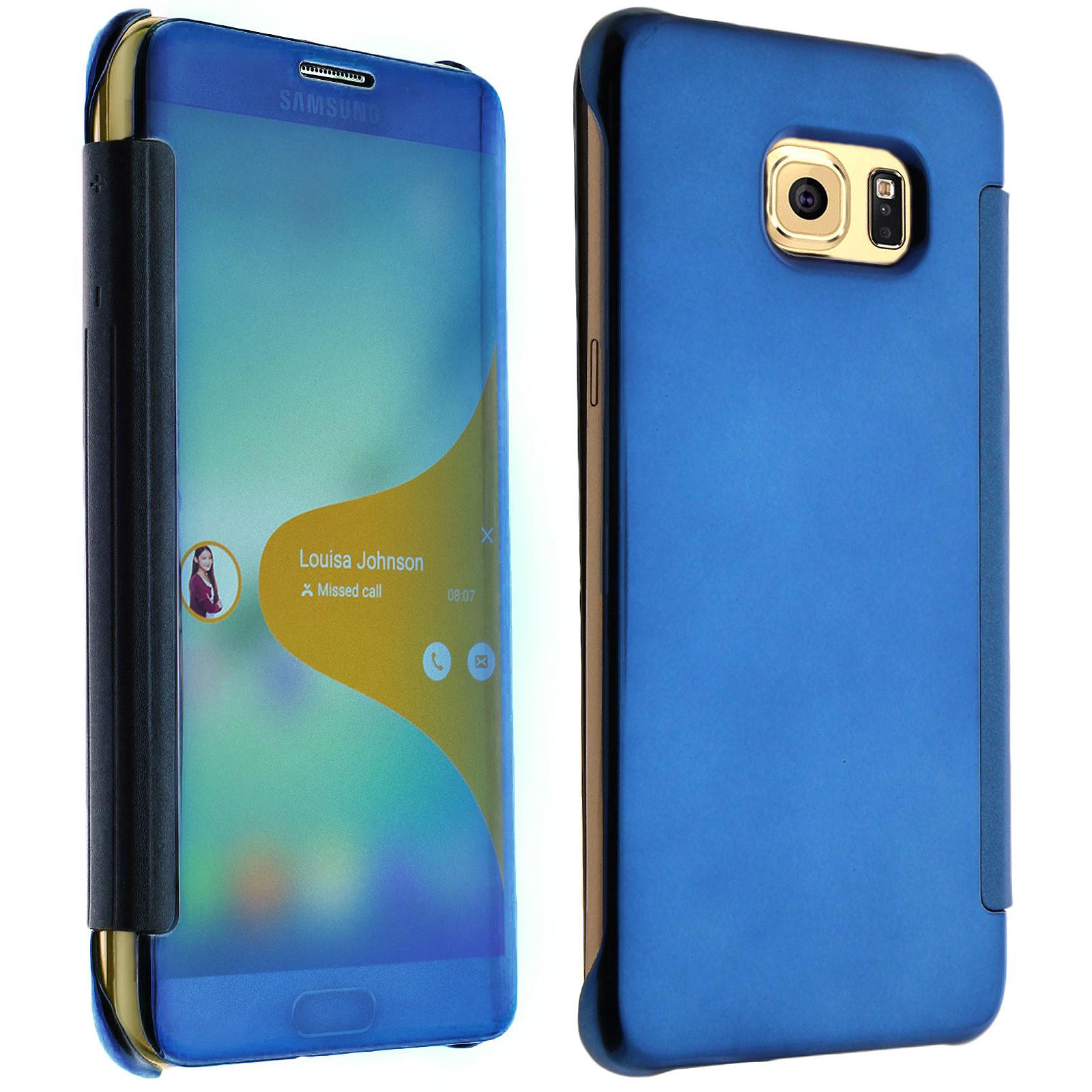 Avizar Etui folio Bleu pour Samsung Galaxy S6 Edge Plus