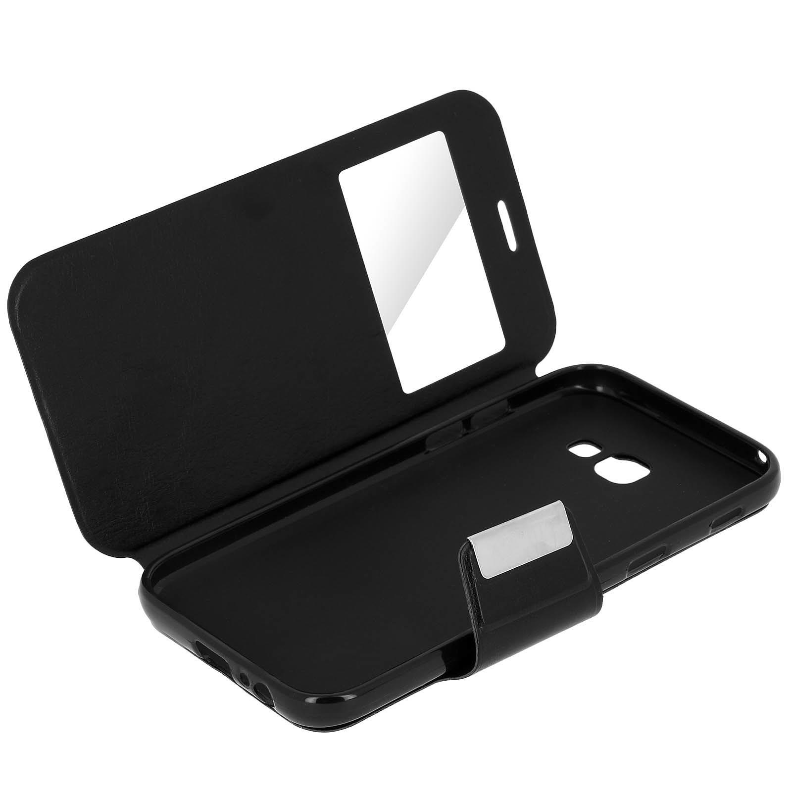 Avizar Etui folio Noir pour Samsung Galaxy A3 2017