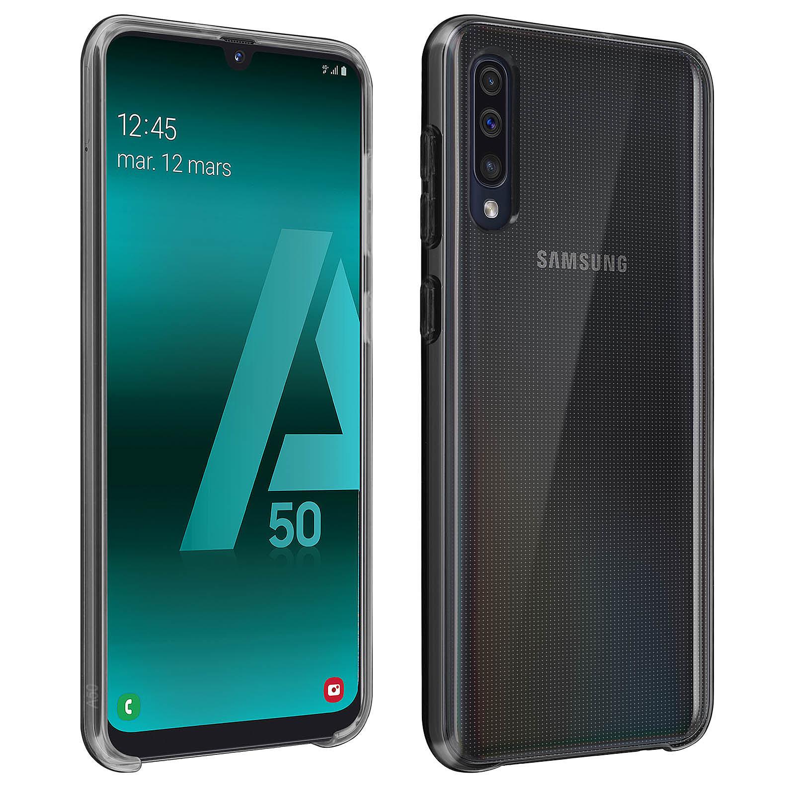 Avizar Coque Noir Semi-Rigide pour Samsung Galaxy A50