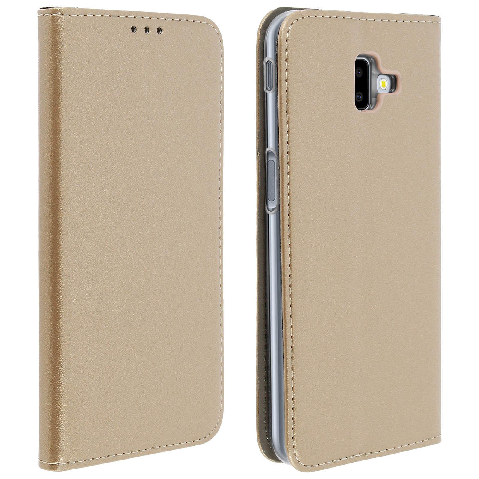 Avizar Etui folio Dorée pour Samsung Galaxy J6 Plus