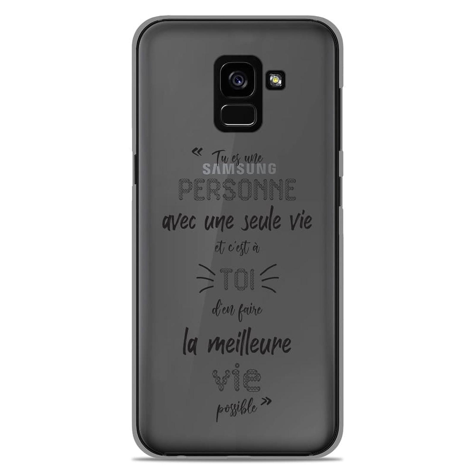 1001 Coques Coque silicone gel Samsung Galaxy A8 2018 motif Une Seule Vie