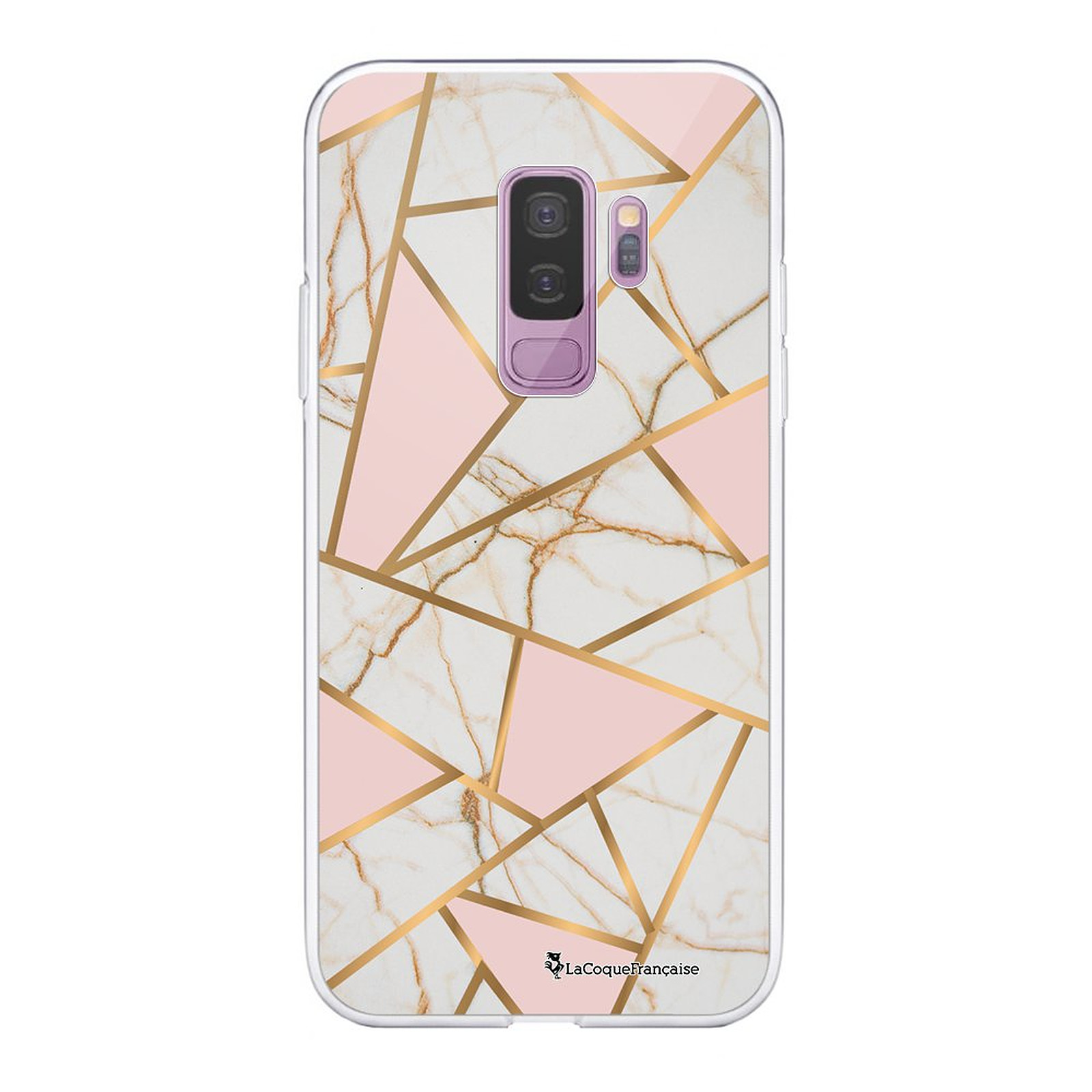 LA COQUE FRANCAISE Coque Samsung Galaxy S9 Plus 360 intégrale transparente Marbre Rose Tendance - Coque téléphone LaCoqueFrançaise sur LDLC