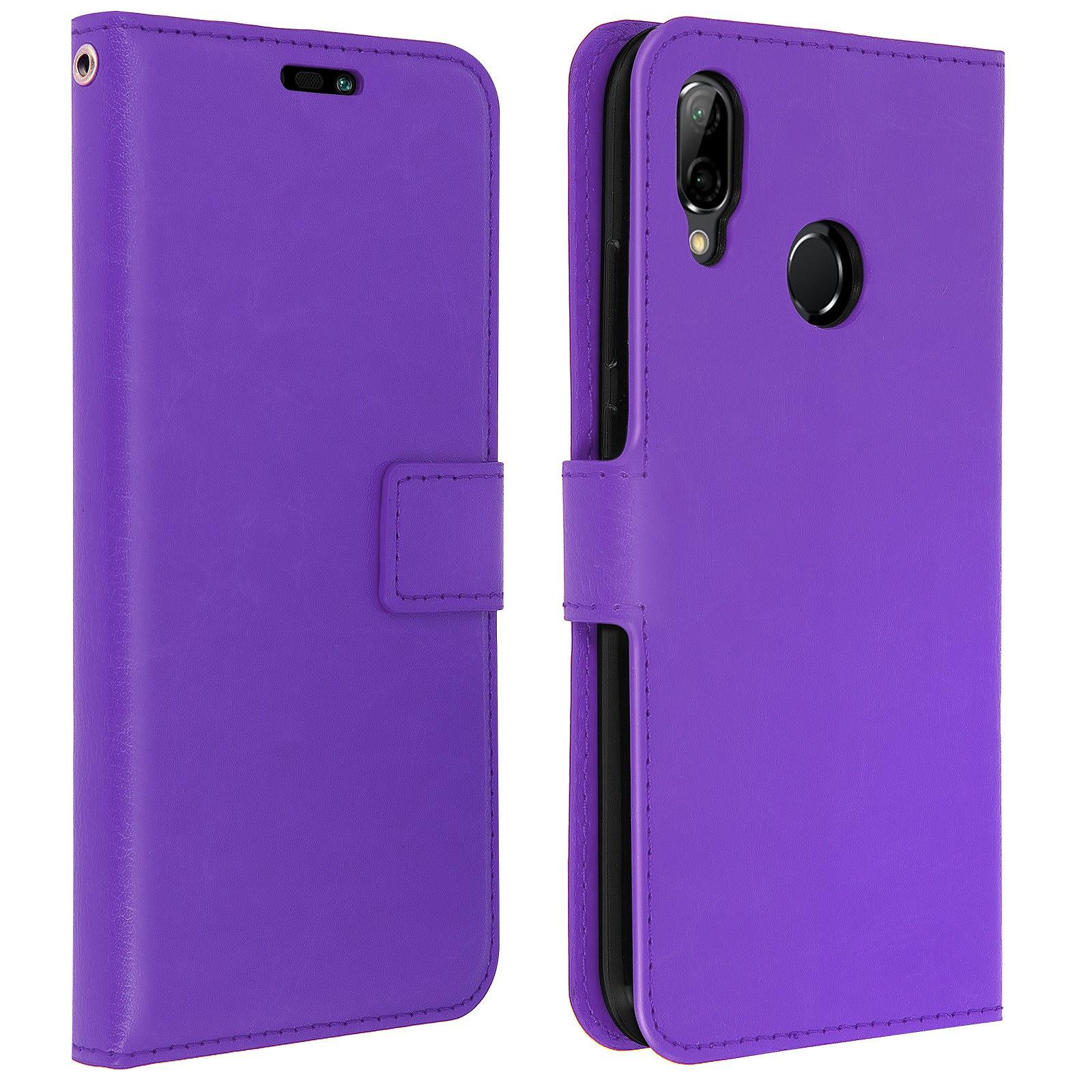 Avizar Etui folio Violet pour Huawei P20 Lite