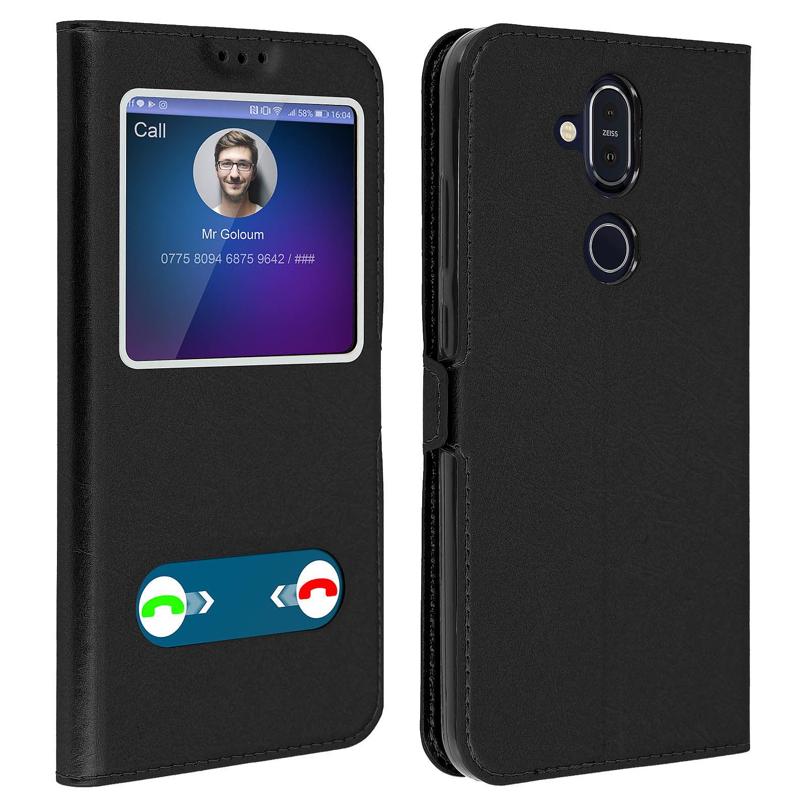 Avizar Etui folio Noir pour Nokia 8.1