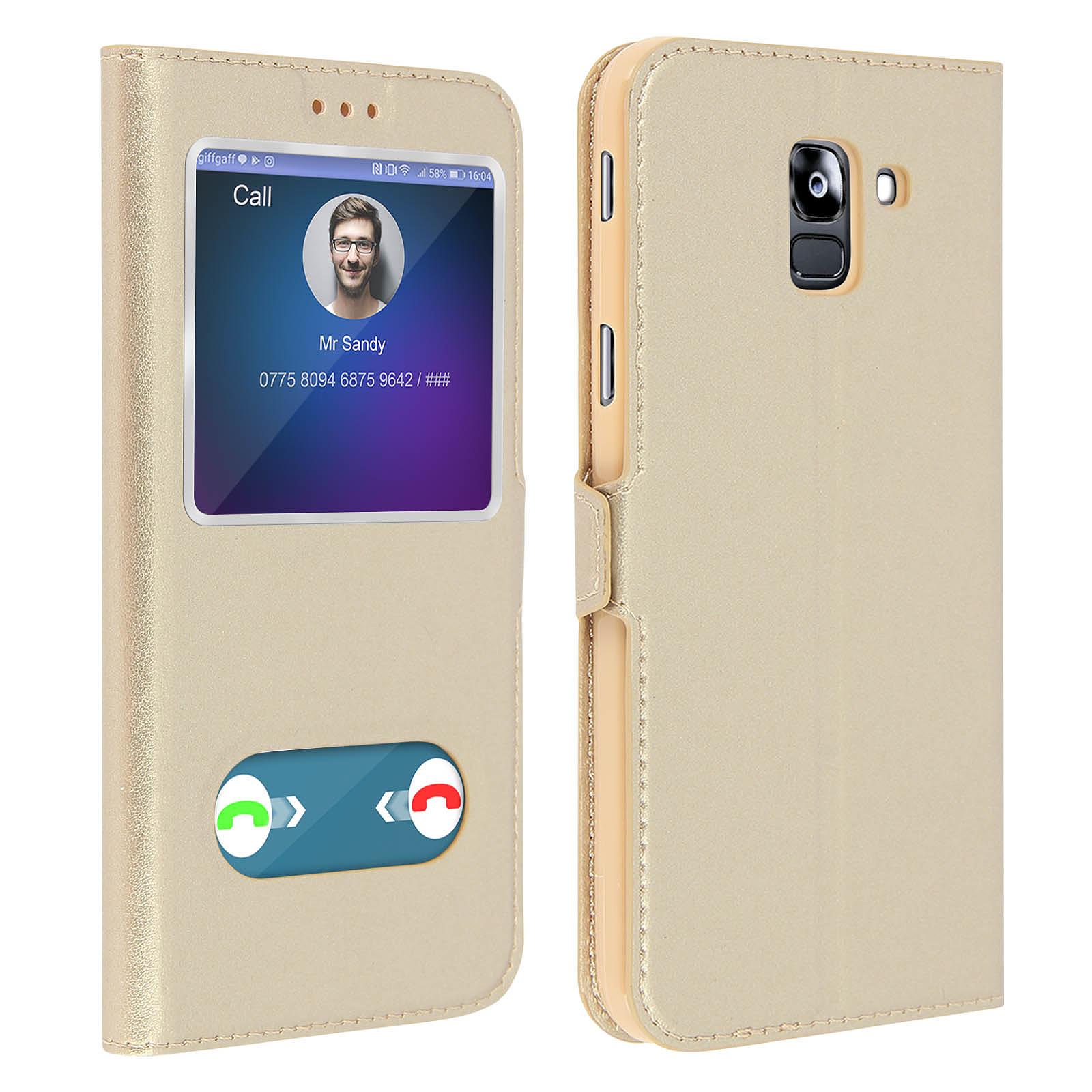 Avizar Etui folio Dorée pour Samsung Galaxy J6