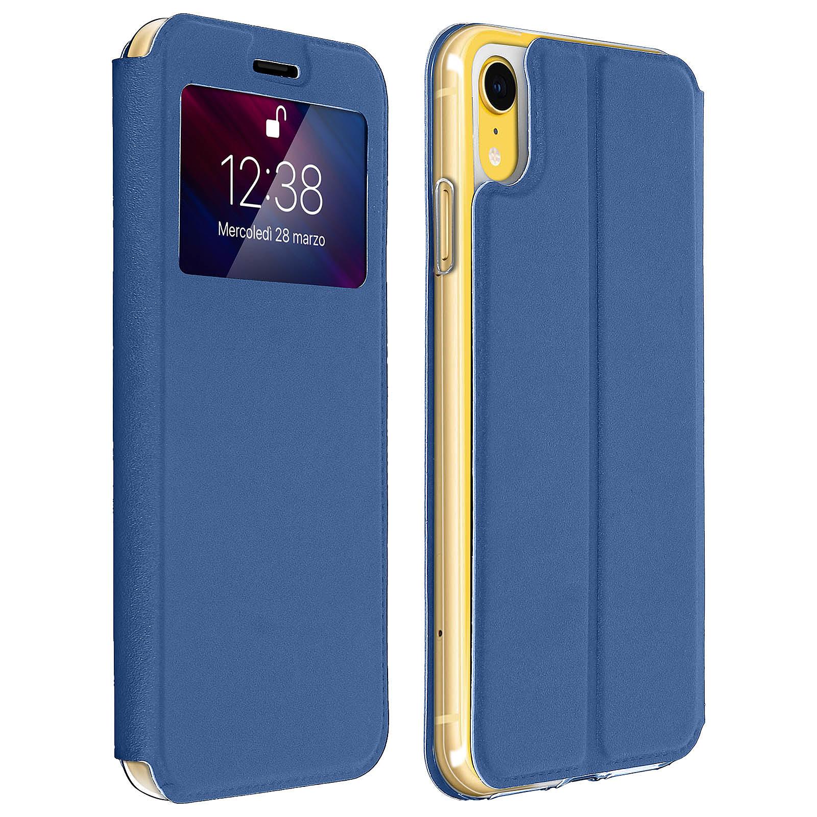 Avizar Etui folio Bleu pour Apple iPhone XR