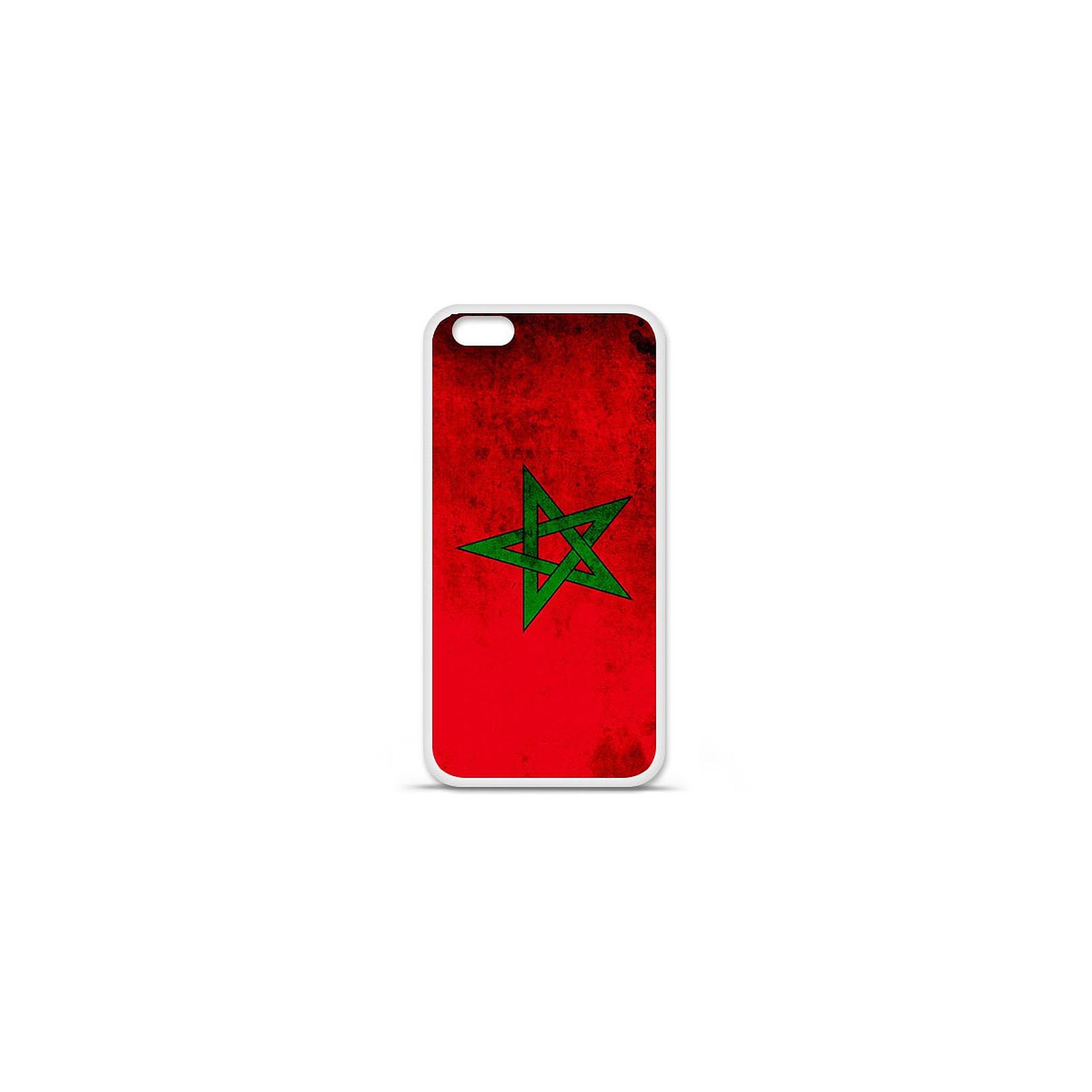 Coque en silicone Apple iPhone XS Max Drapeau Maroc