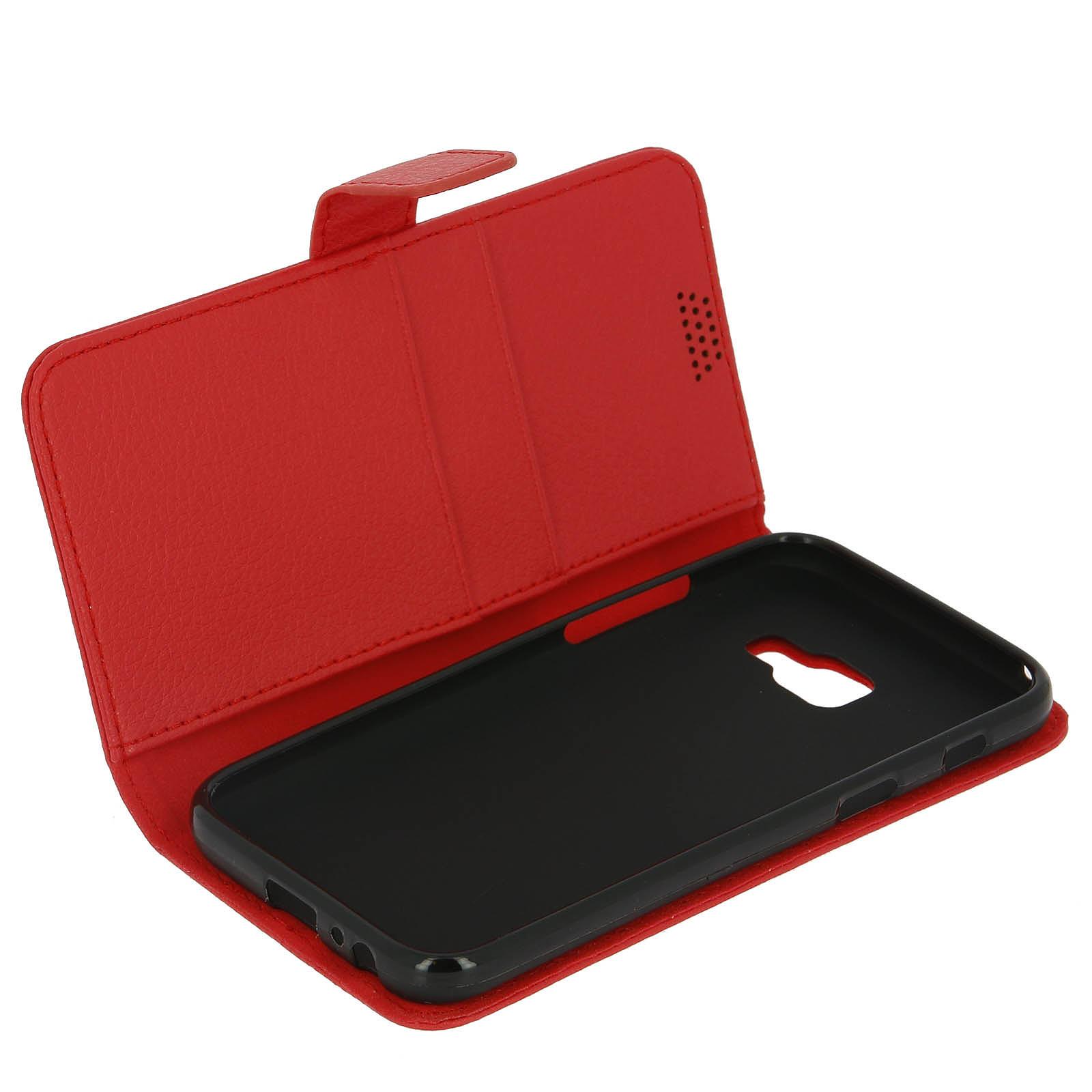 Avizar Etui folio Rouge pour Samsung Galaxy A3 2017