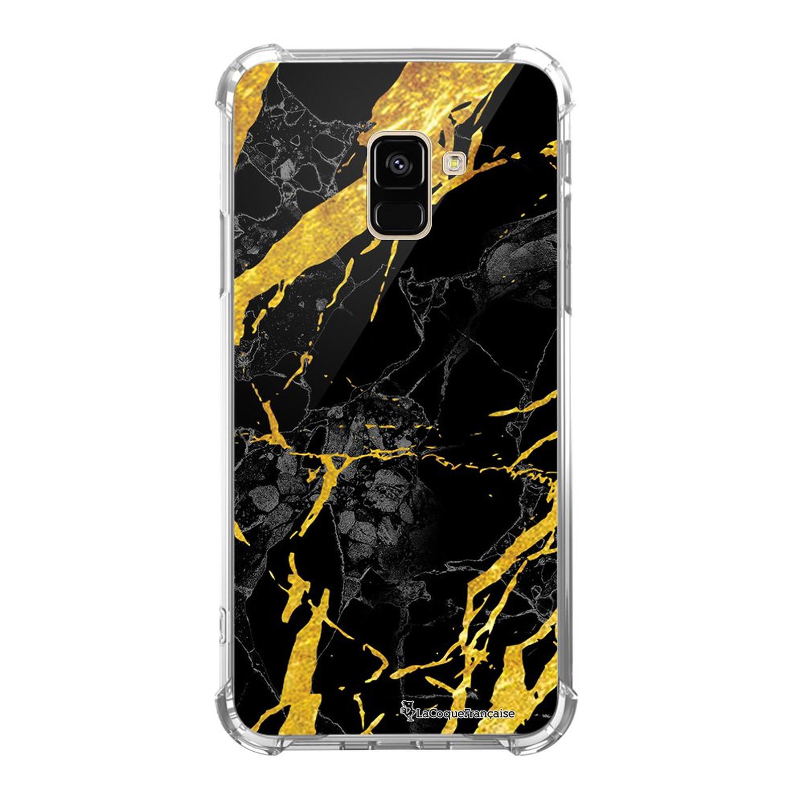 LA COQUE FRANCAISE Coque Samsung Galaxy A8 2018 anti-choc souple angles renforcés Marbre noir