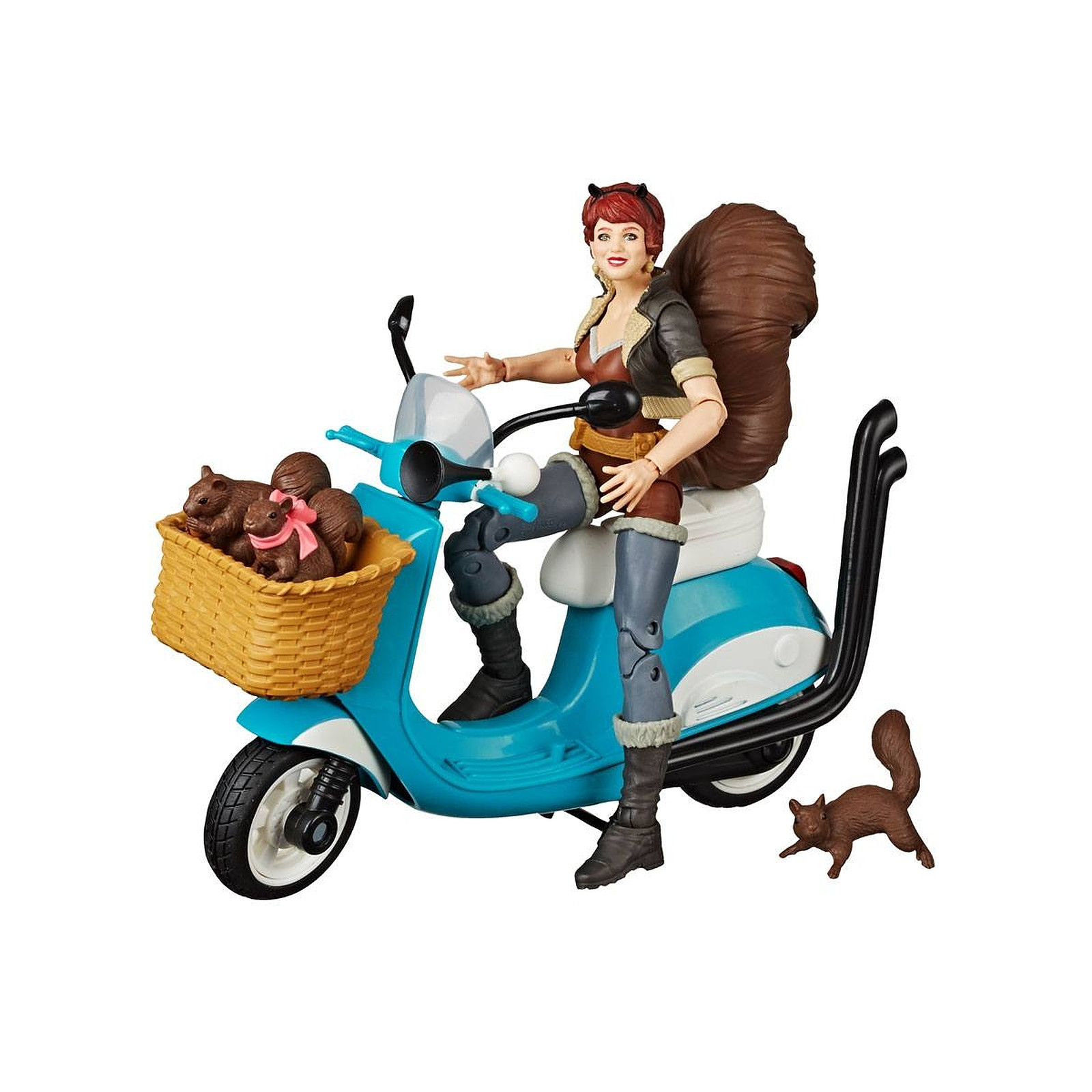 Marvel Legends Series - Figurine avec véhicule Squirrel Girl 15 cm