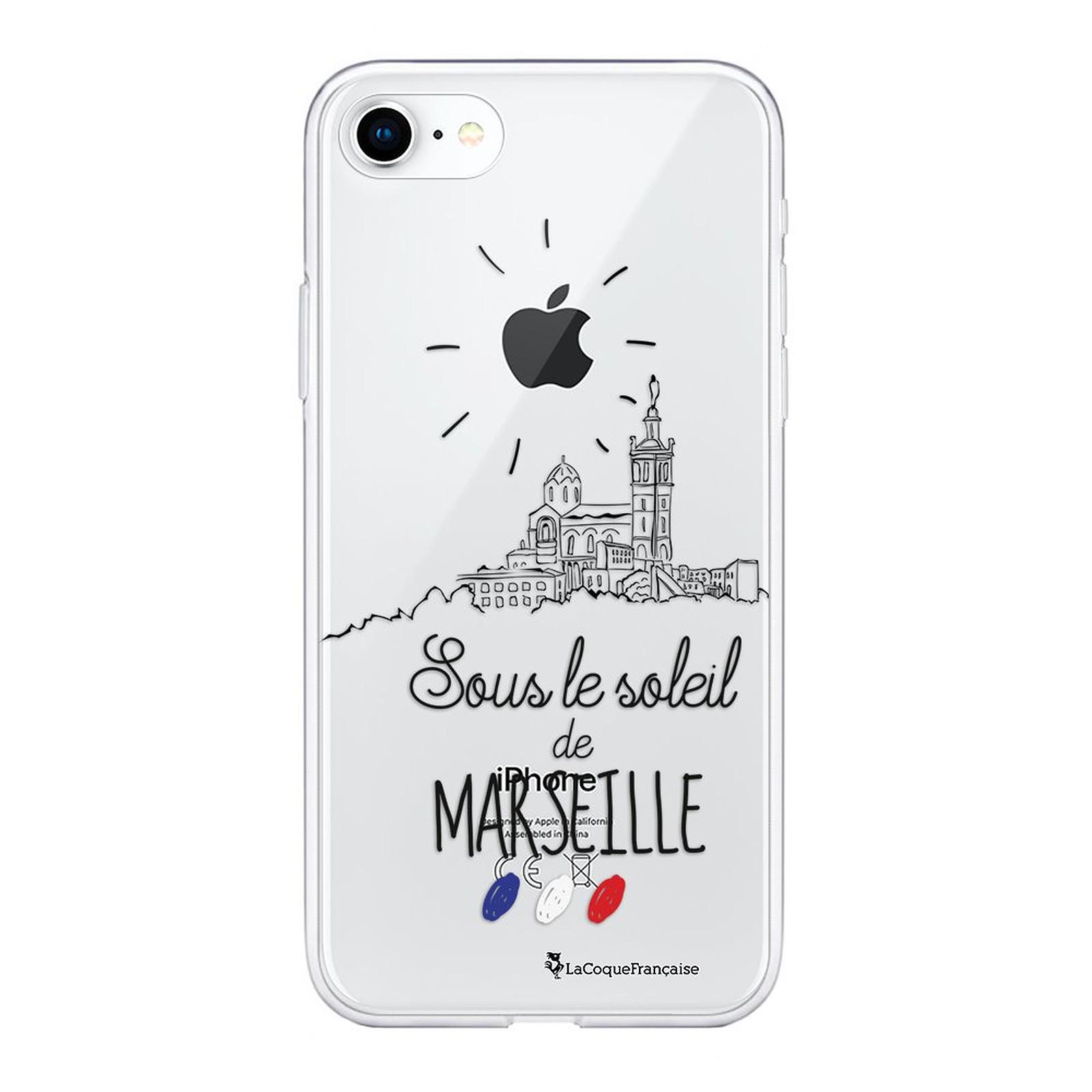 LA COQUE FRANCAISE Coque iPhone 7/8/ iPhone SE 2020 souple transparente Sous le soleil de Marseille
