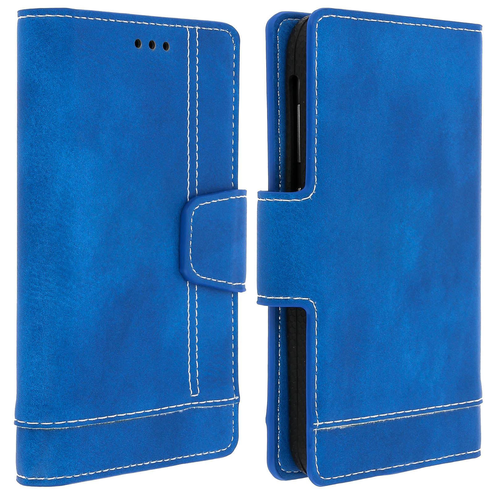 Avizar Etui folio Bleu pour Smartphones de 5.0' à 5.5'