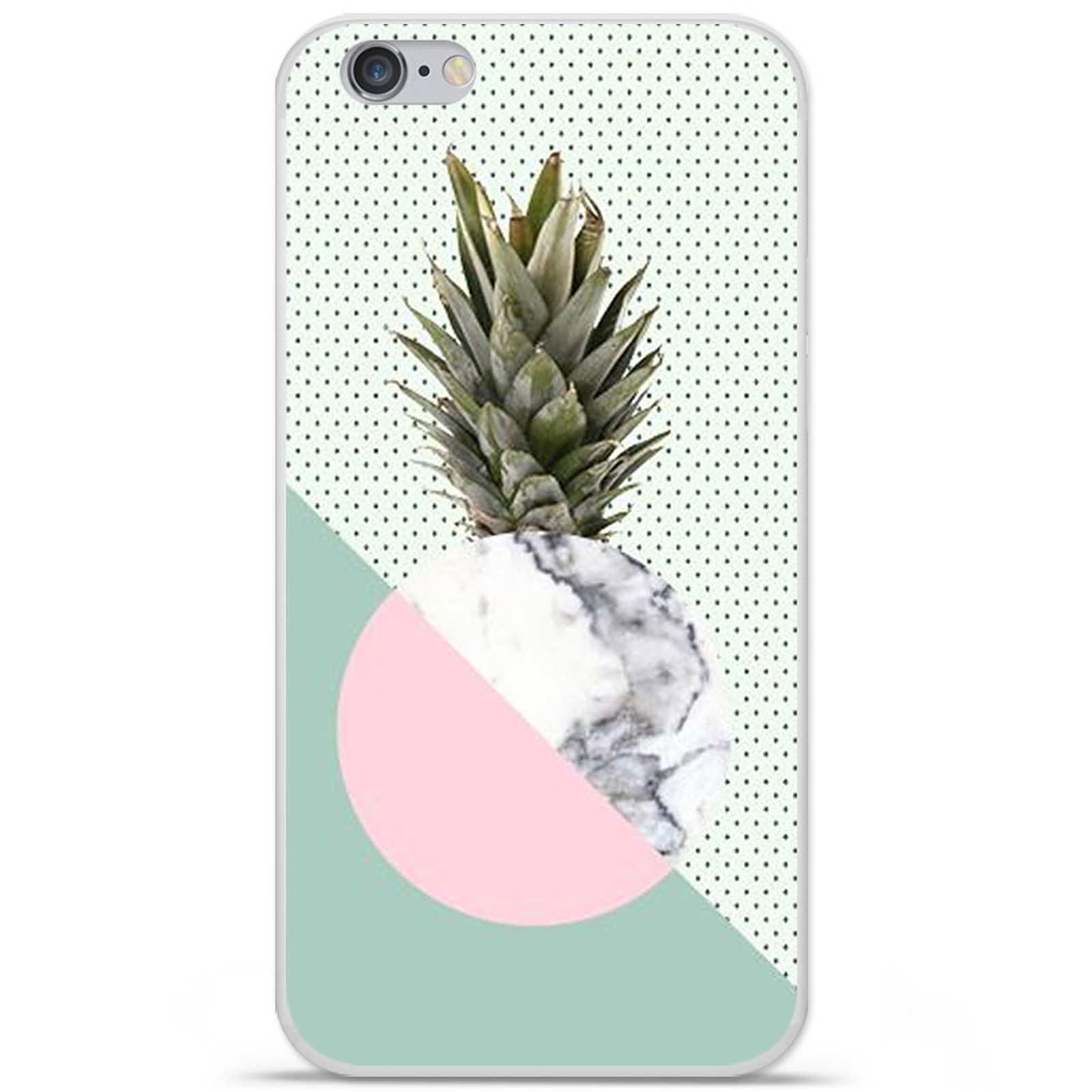 1001 Coques Coque silicone gel Apple IPhone 7 Plus motif Ananas marbre