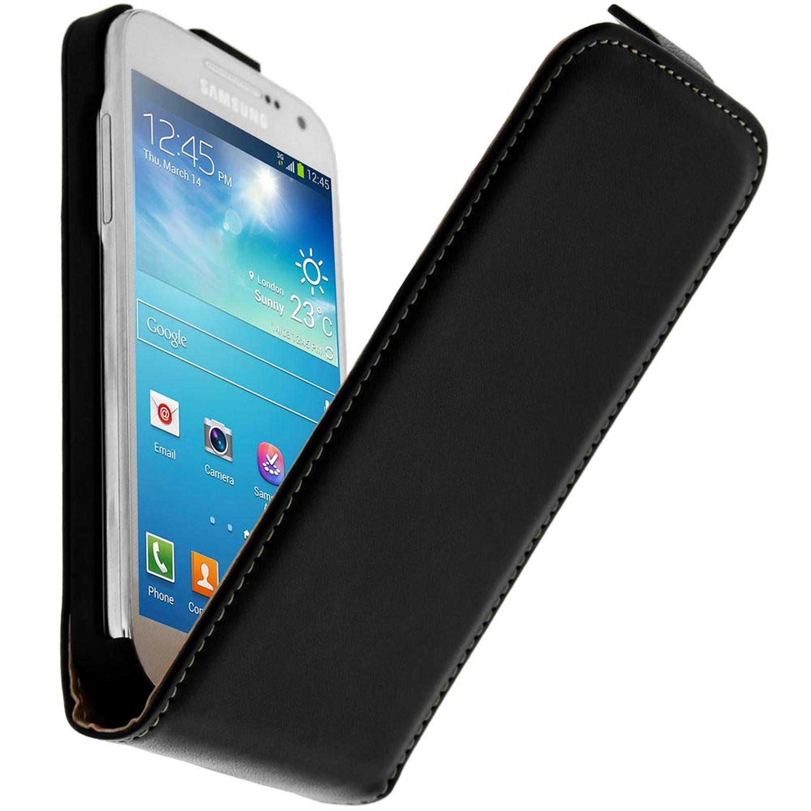 Avizar Etui à clapet Noir pour Samsung Galaxy S4 Mini - Coque téléphone Avizar sur LDLC