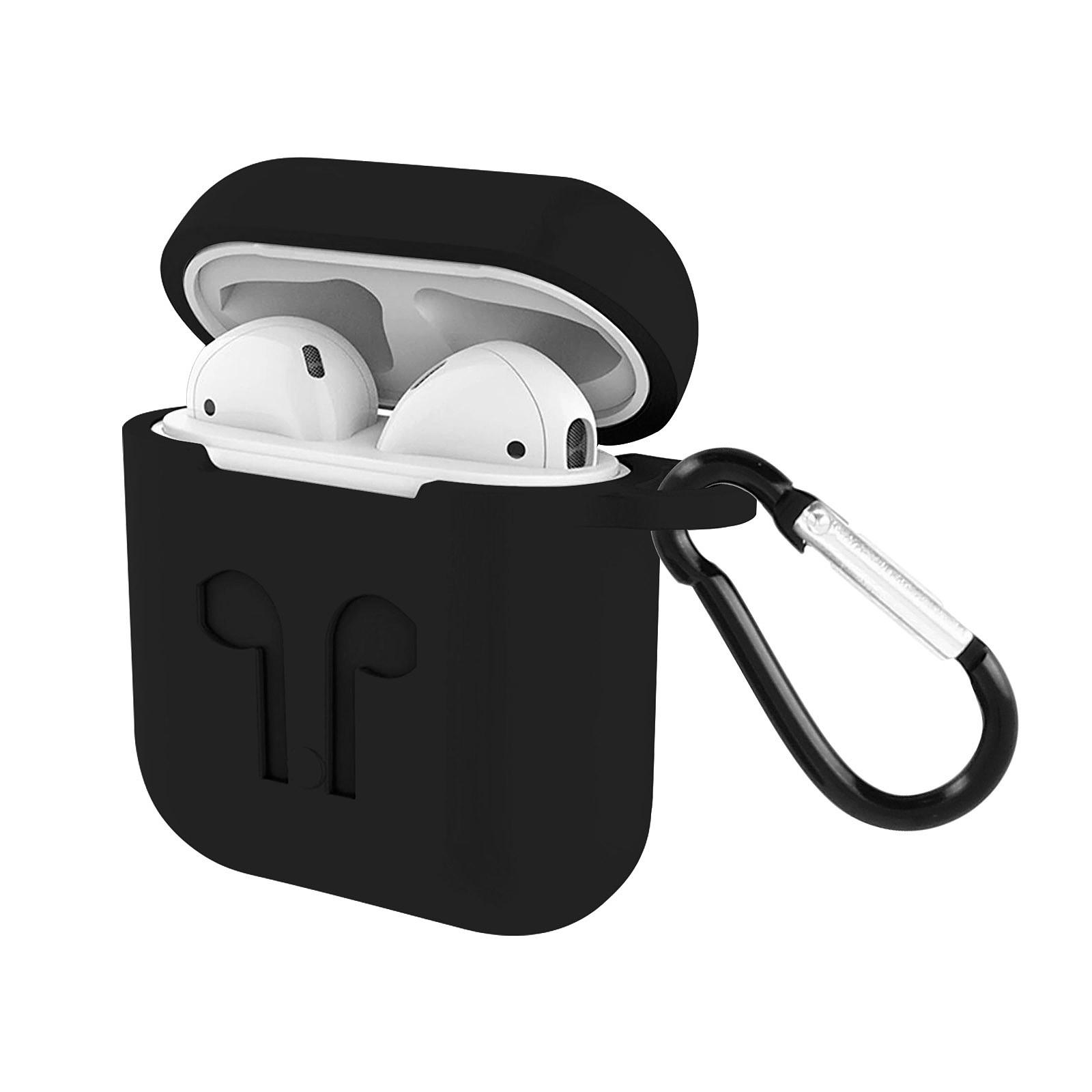 Avizar Coque Noir pour Apple AirPods 1 et 2
