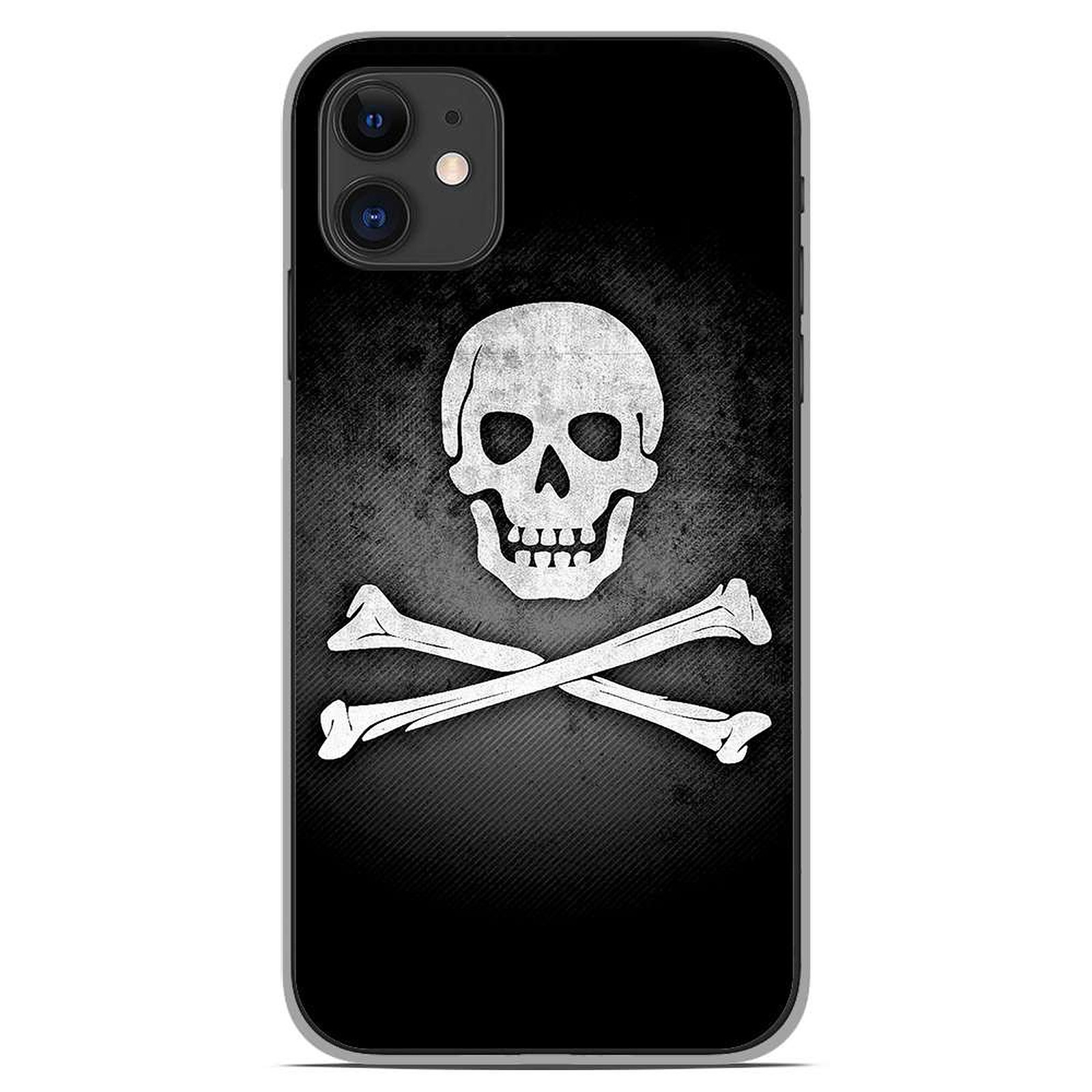 1001 Coques Coque silicone gel Apple iPhone 11 motif Drapeau Pirate