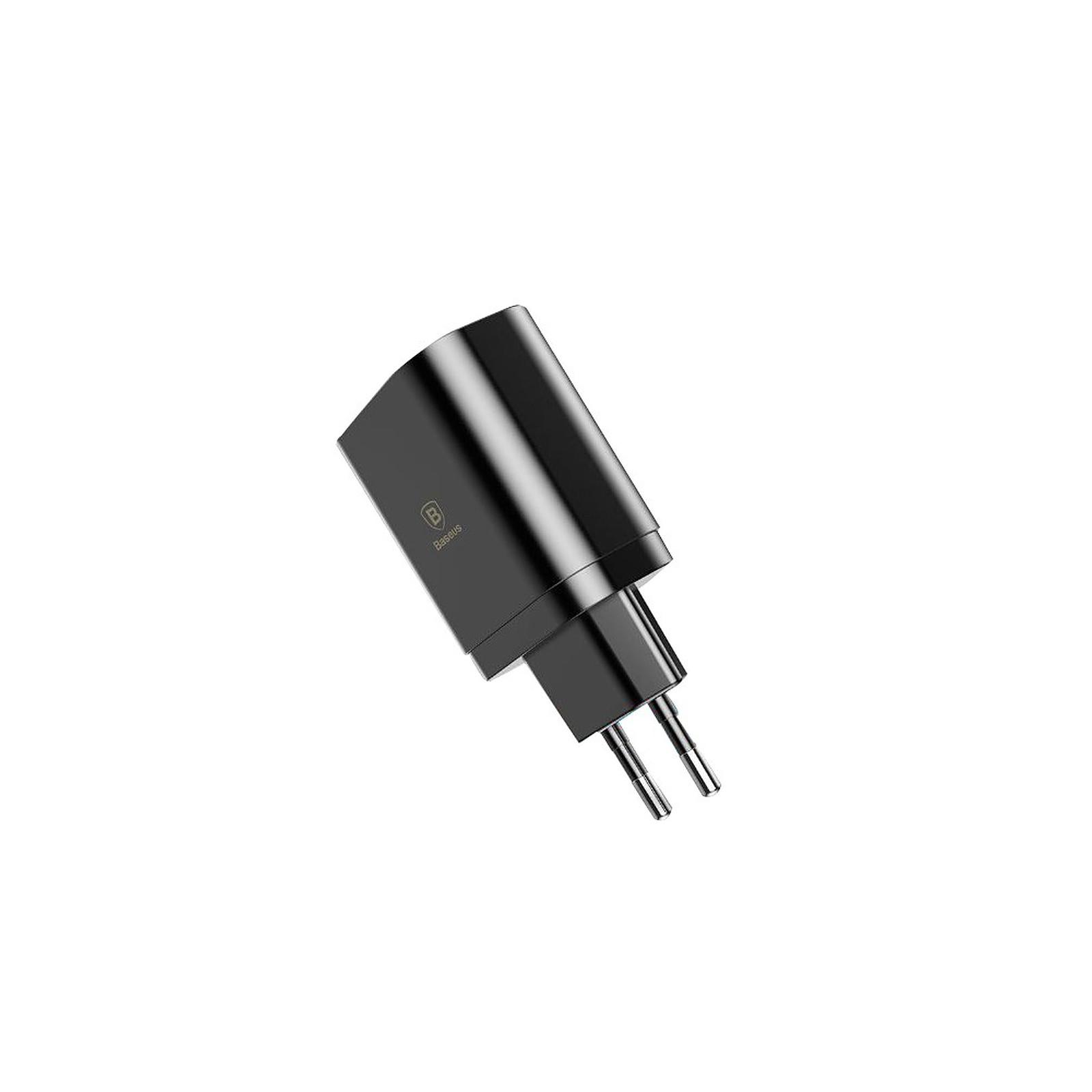 BASEUS Chargeur 3 USB avec Affichage Charge rapide 3.4A Max couleur noir