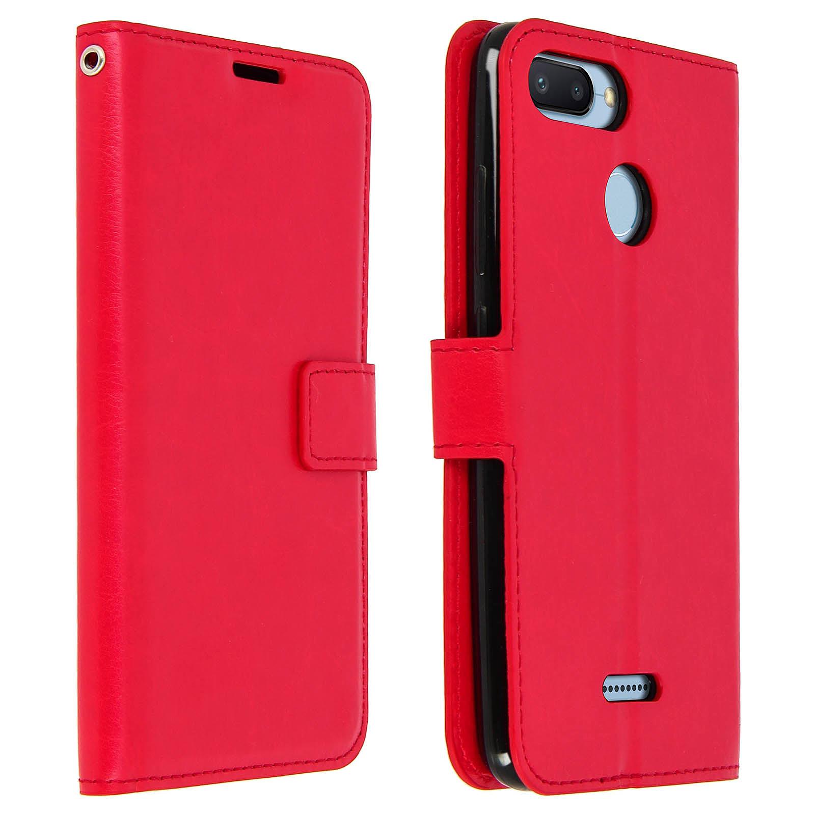 Avizar Etui folio Rouge pour Xiaomi Redmi 6A, Xiaomi Redmi 6