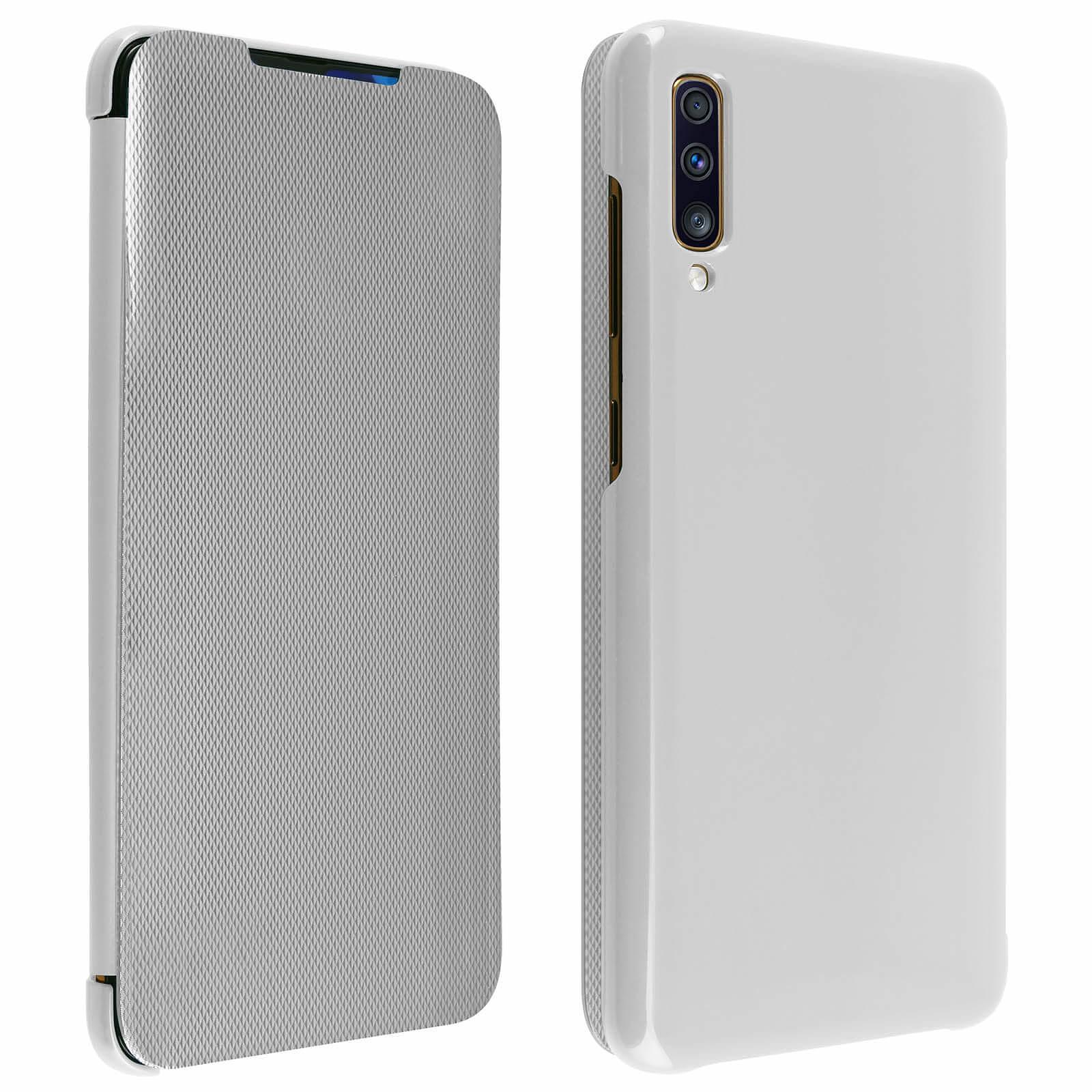 Avizar Etui folio Argent pour Samsung Galaxy A70