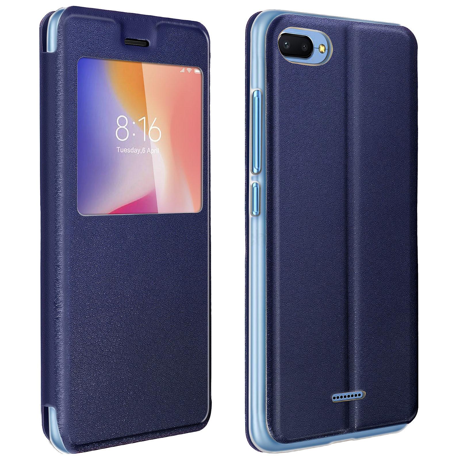Avizar Etui folio Bleu Nuit pour Xiaomi Redmi 6A
