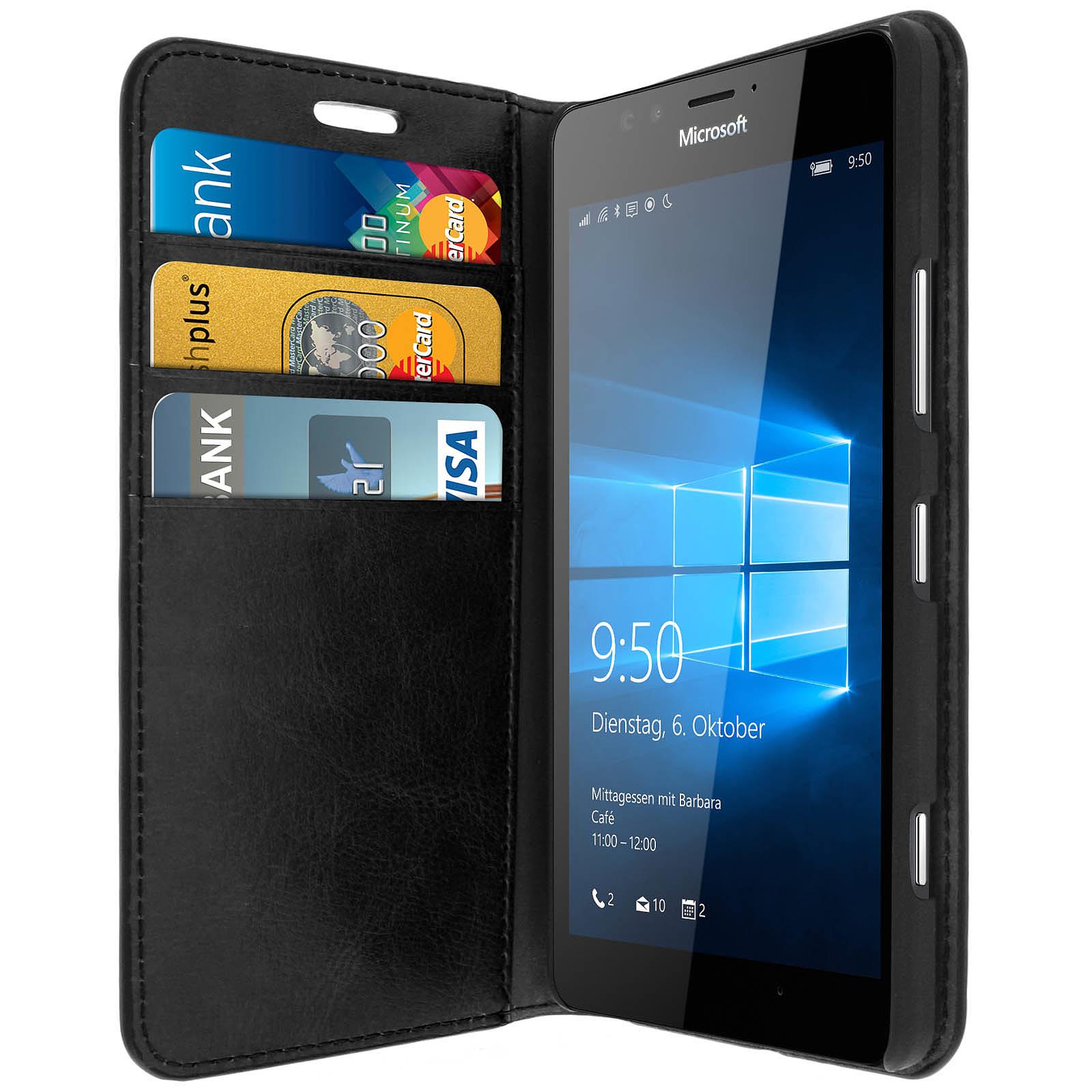 Avizar Etui folio Noir pour Microsoft Lumia 950 , Nokia Lumia 950