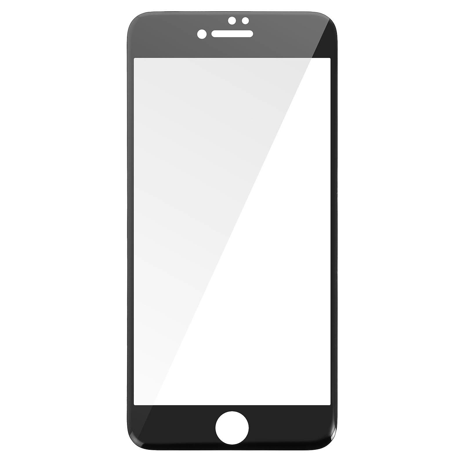 Avizar Film verre trempé Noir pour Apple iPhone 7 Plus , Apple iPhone 8 Plus