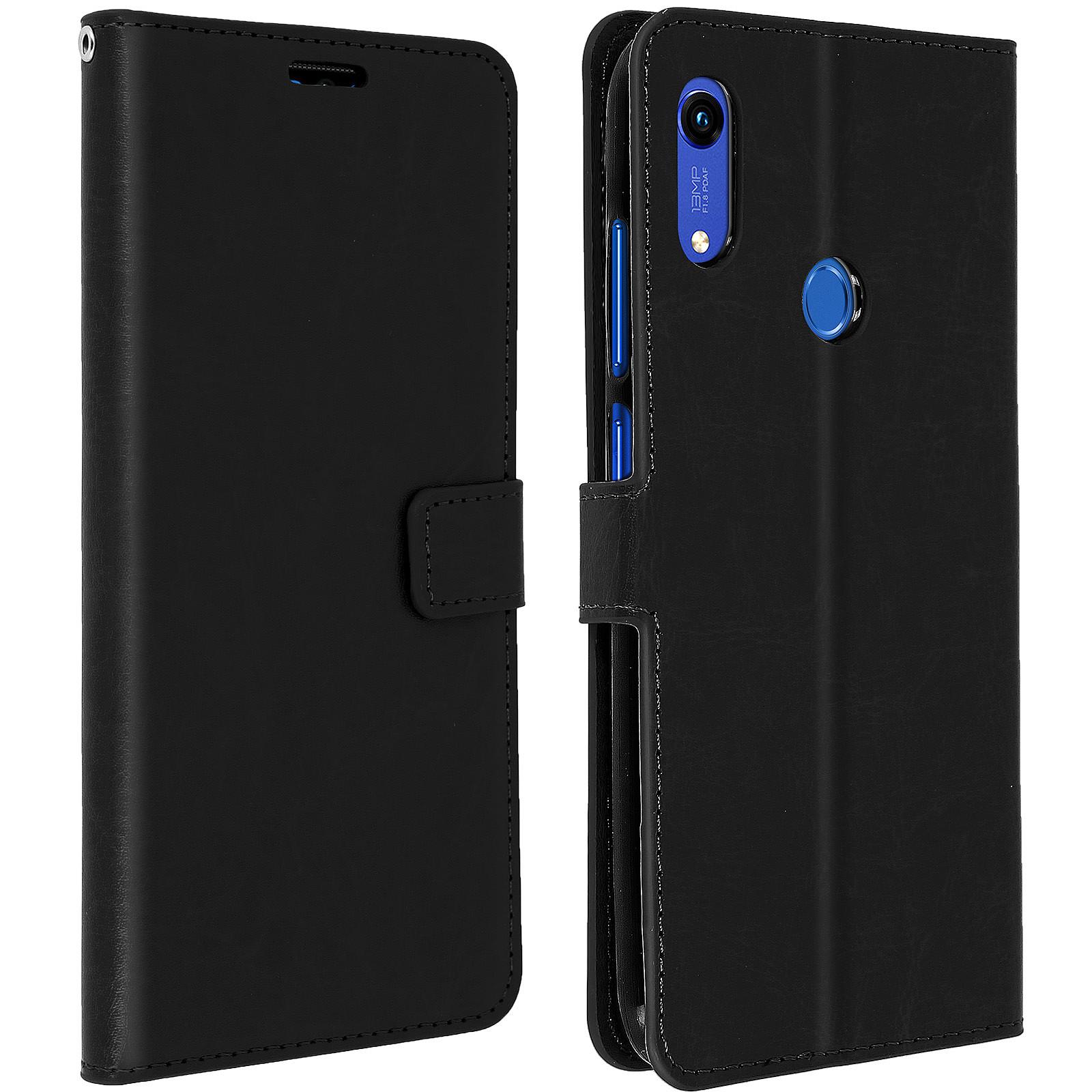 Avizar Etui folio Noir pour Huawei Y6 2019,Honor 8A