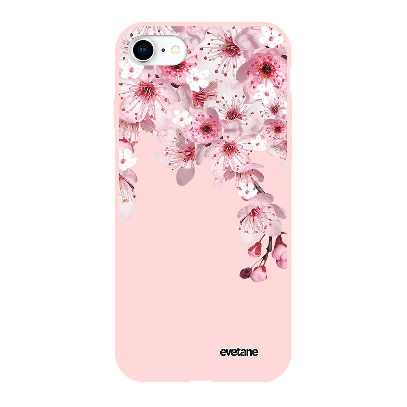 EVETANE Coque iPhone 7/8/ iPhone SE 2020 Silicone Liquide Douce rose pâle Cerisier - Coque téléphone Evetane sur LDLC