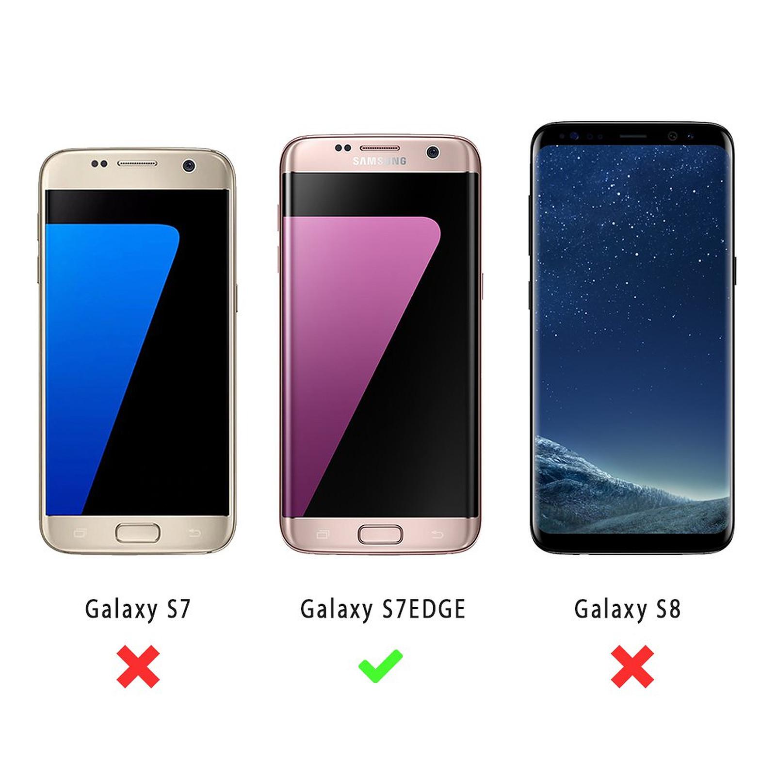 EVETANE Coque Samsung Galaxy S7 Edge anti-choc souple angles renforcés transparente Marguerite