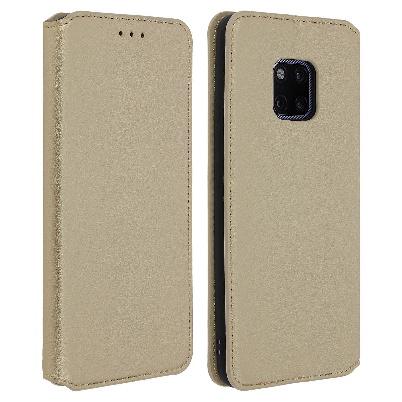 Avizar Etui folio Dorée pour Huawei Mate 20 Pro