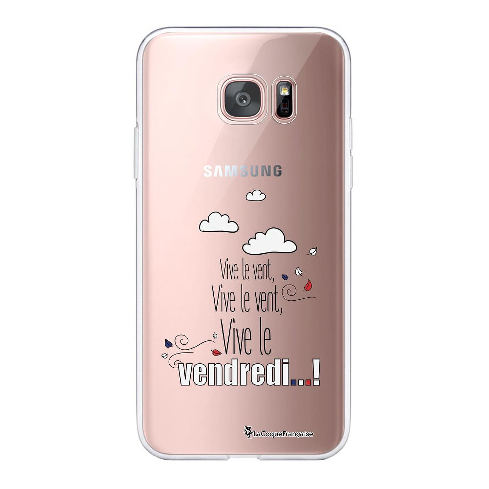 LA COQUE FRANCAISE Coque Samsung Galaxy S7 Edge 360 intégrale transparente Vive le vendredi Tendance - Coque téléphone LaCoqueFrançaise sur LDLC