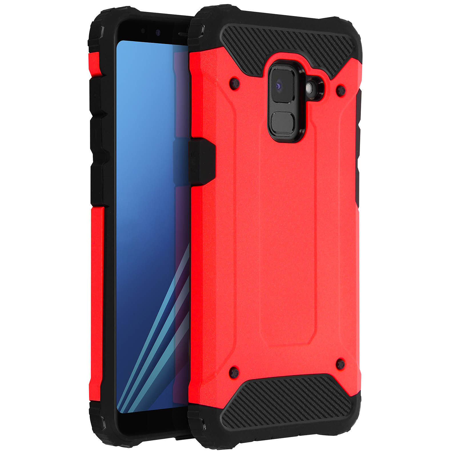 Avizar Coque Rouge pour Samsung Galaxy A8 - Coque téléphone Avizar ...