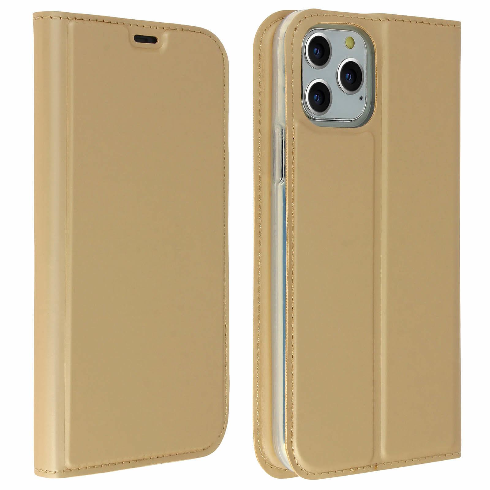 Avizar Etui folio Dorée Éco-cuir pour Apple iPhone 11 Pro Max